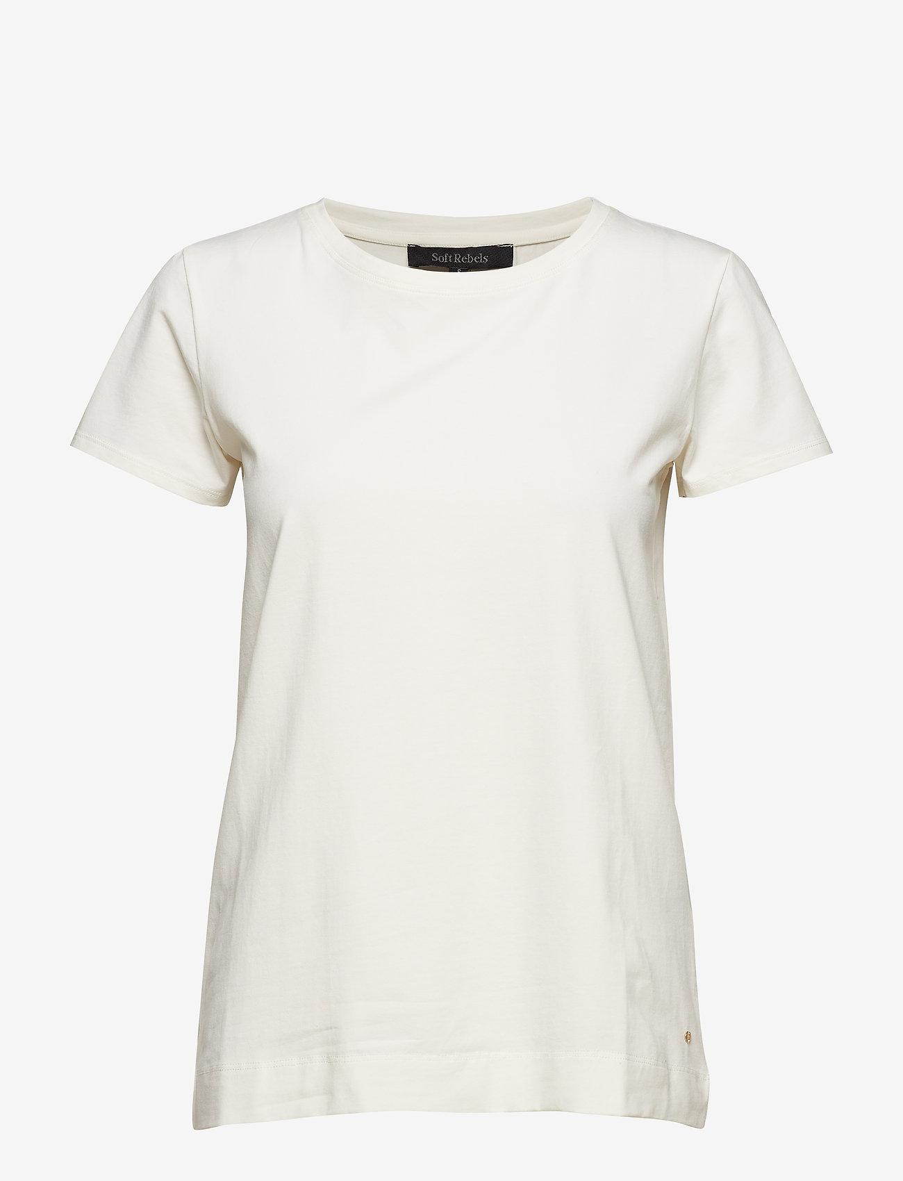 Soft Rebels - Elle T-shirt - basic t-shirts - snow white / off white - 1