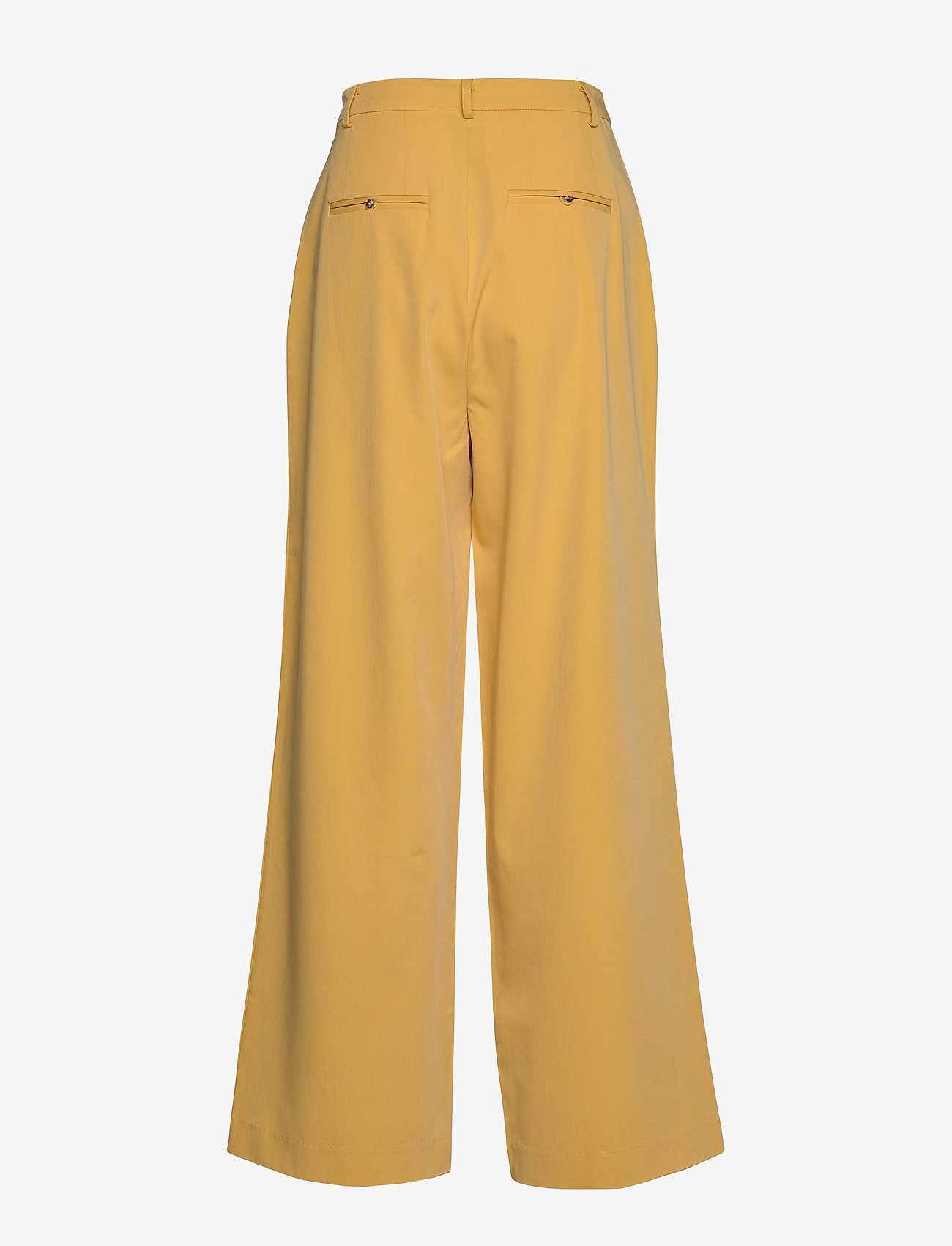 Soft Rebels - Jamie HW Pleat Pant - uitlopende broeken - ochre - 1