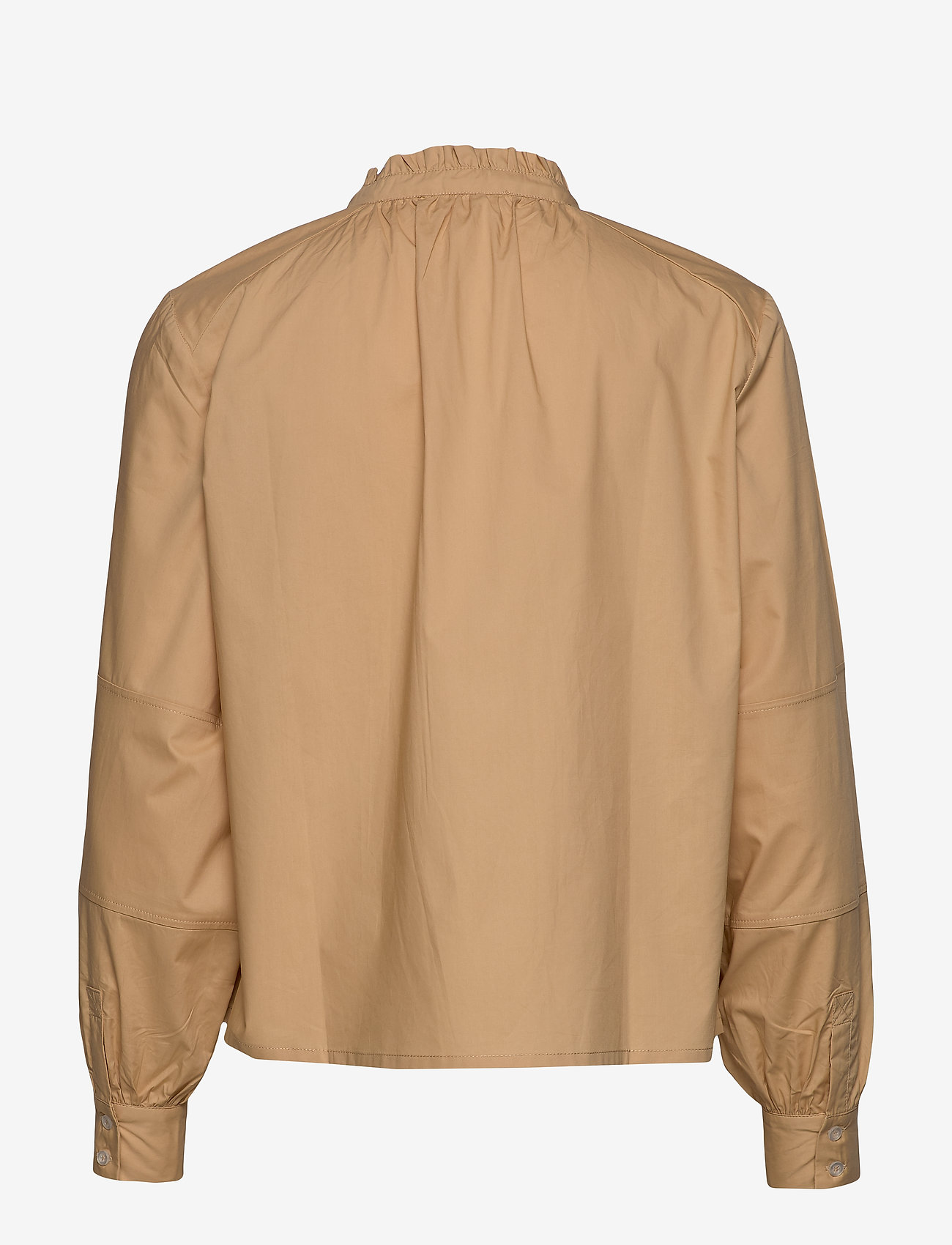 Soft Rebels - Beatrice LS Frill Shirt - long sleeved blouses - warm sand - 1