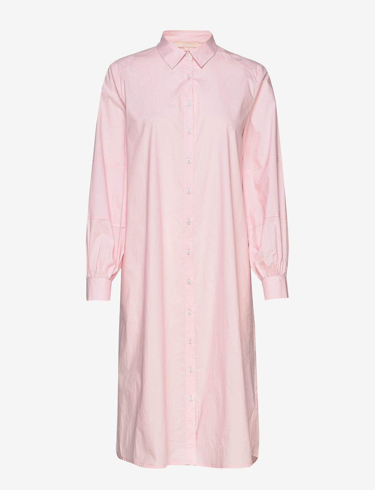 Soft Rebels Beatrice Midi Shirt Dress - Sukienki ROSEATE SPOONBILL - Kobiety Odzież.