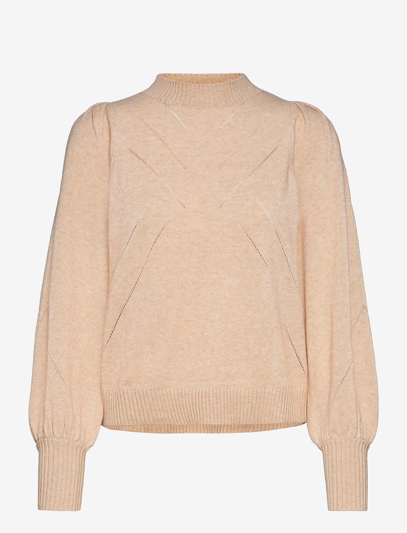 Soft Rebels - SRTamara LS O-neck Knit - jumpers - white pepper - 0