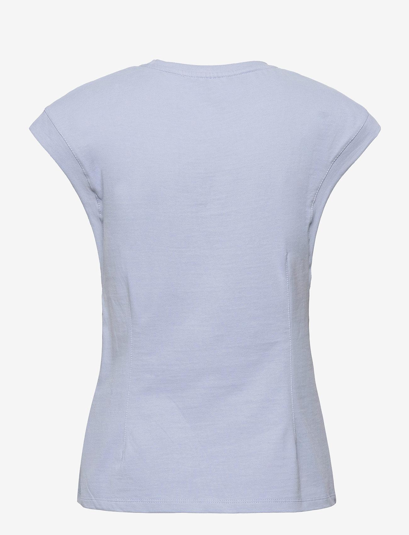 Soft Rebels - SRWinona SS Top - t-shirt & tops - zen blue - 1
