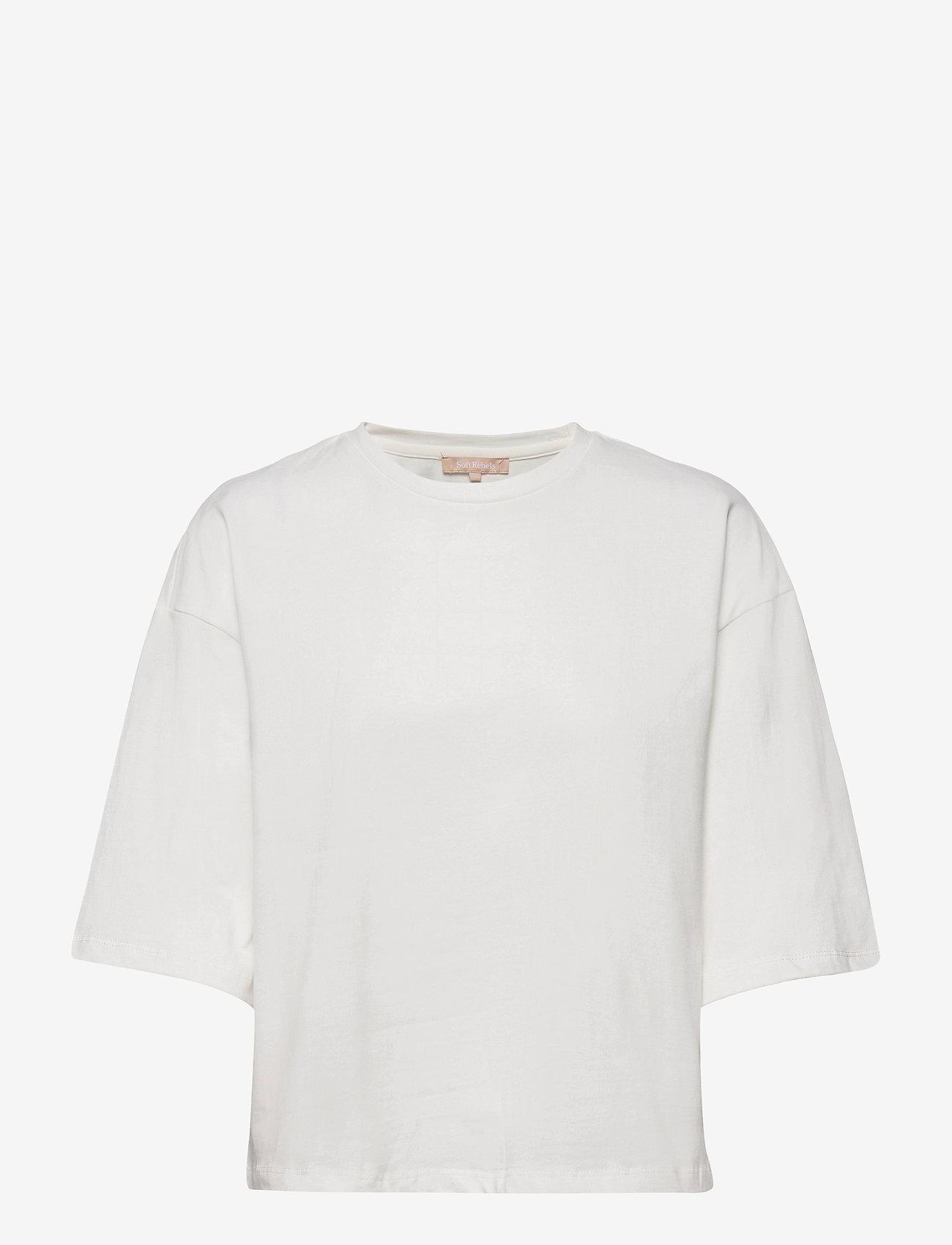 Soft Rebels - SRWinona 2/4 T-shirt - langærmede toppe - snow white / off white - 0