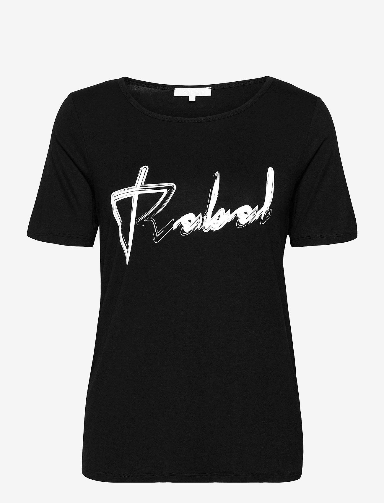 Soft Rebels - SRRebels T-shirt - t-shirts - black - 0