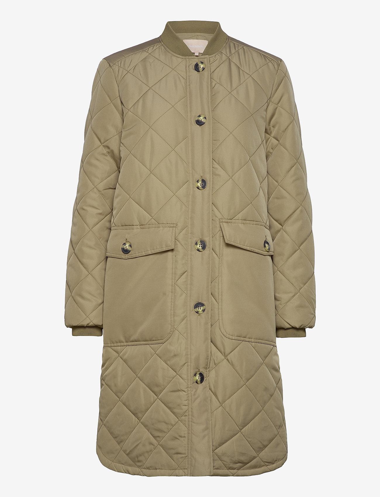 Soft Rebels - SREileen LS Quilt Coat - quilted jackets - covert green - 0