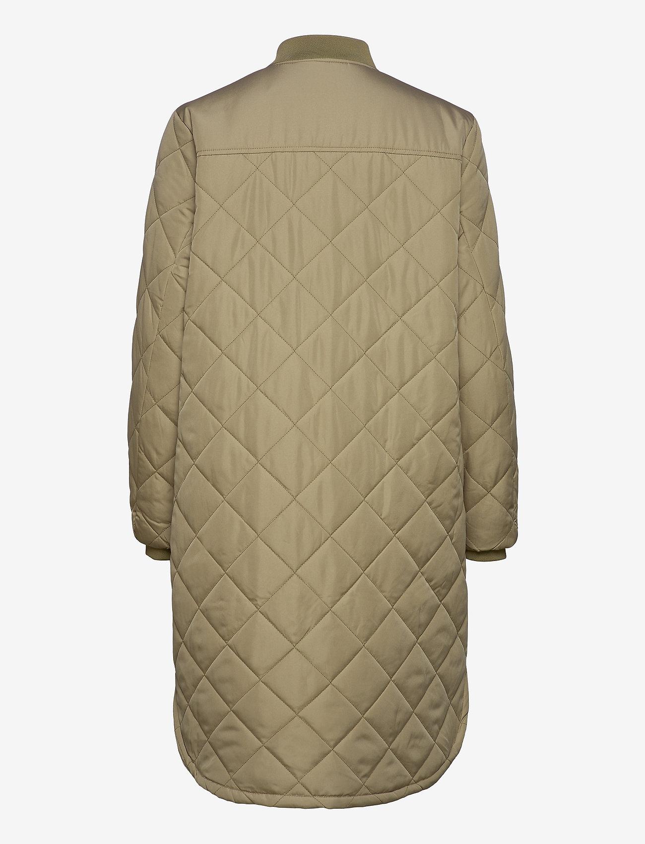 Soft Rebels - SREileen LS Quilt Coat - quilted jackets - covert green - 1