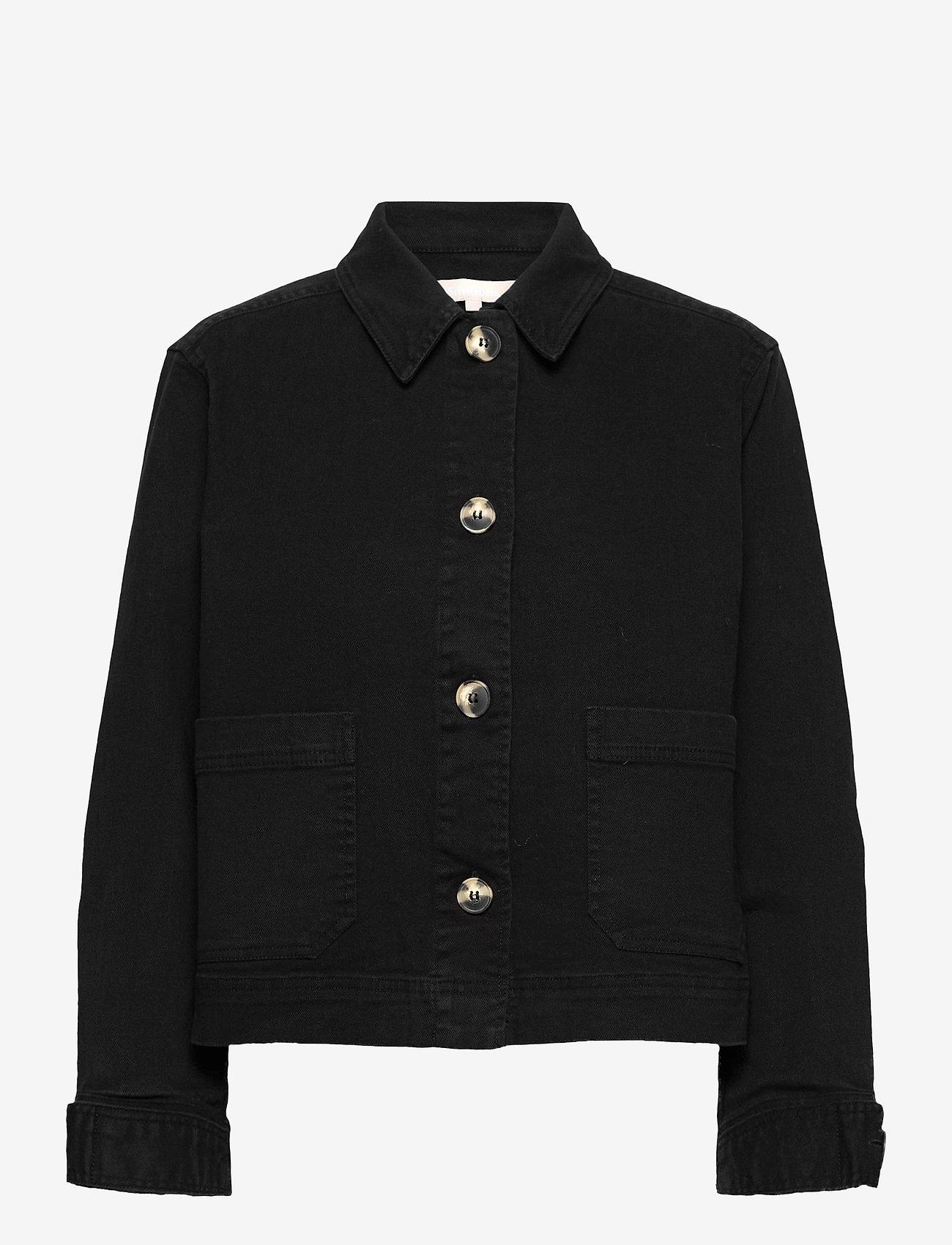 Soft Rebels - SRLauren LS Short Loose Jacket - denim jackets - black - 0