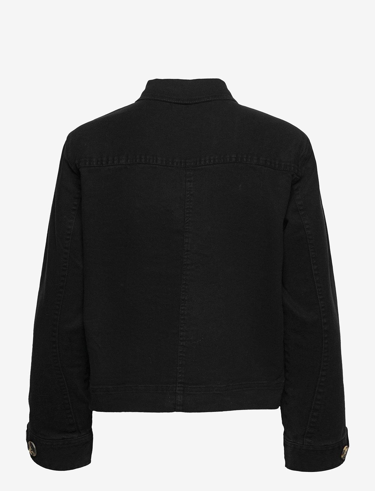 Soft Rebels - SRLauren LS Short Loose Jacket - denim jackets - black - 1