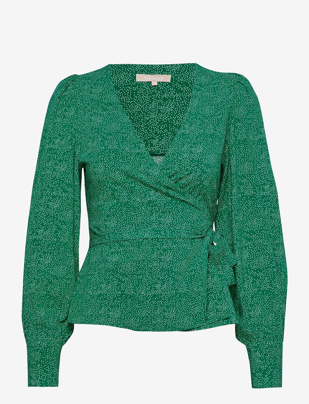 Soft Rebels - SRDota LS Wrap Top - long sleeved blouses - mini dottie - 0