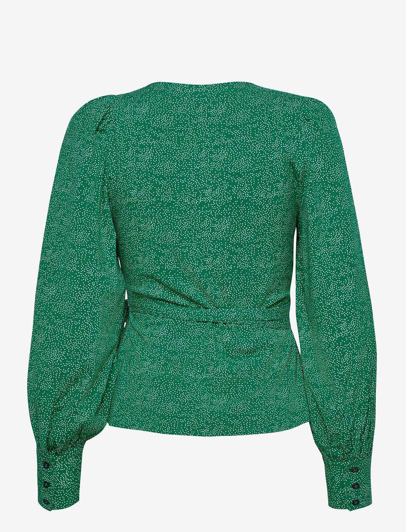 Soft Rebels - SRDota LS Wrap Top - long sleeved blouses - mini dottie - 1