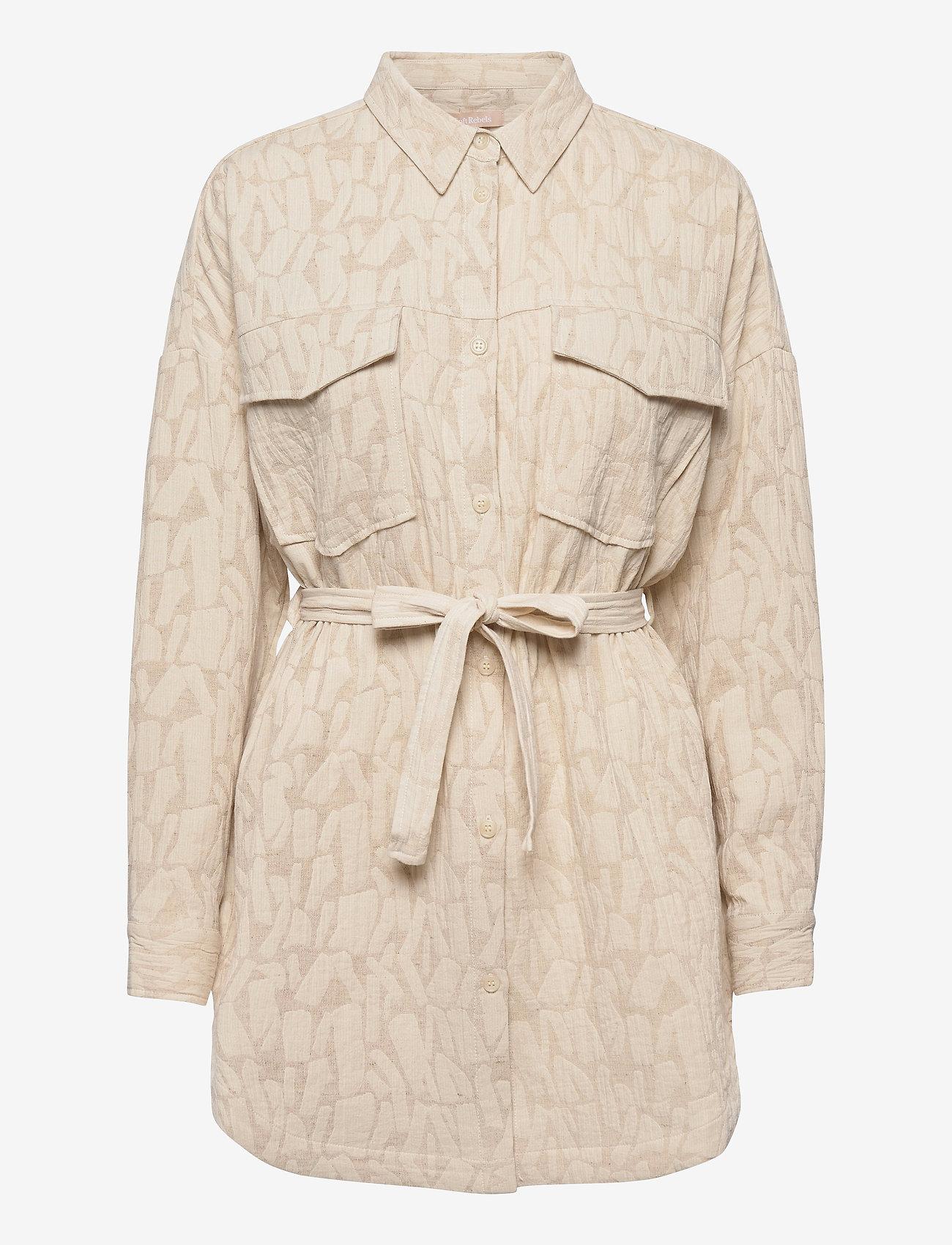 Soft Rebels - SRJasmina LS Shirt - long-sleeved shirts - white pepper - 0