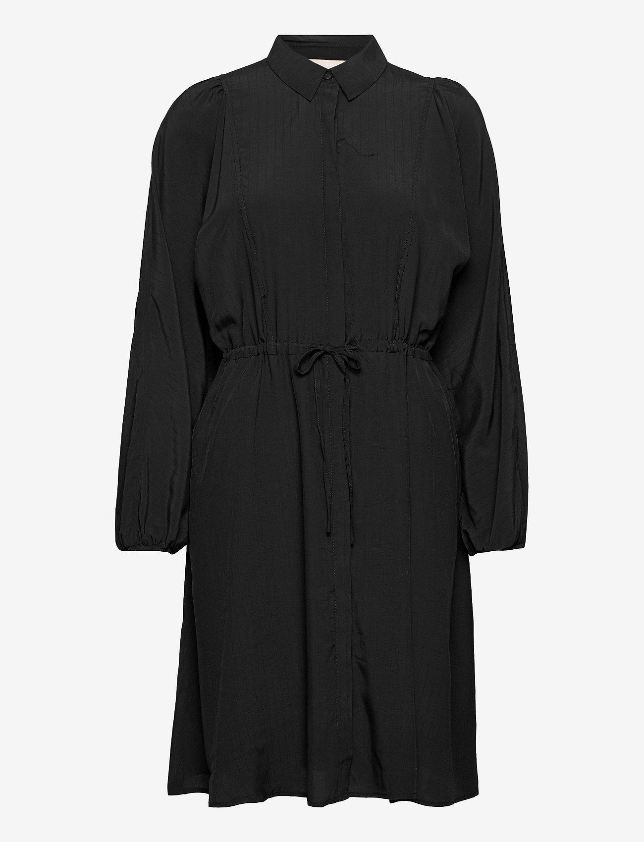 Soft Rebels - SRManna Shirt Dress - everyday dresses - black - 0