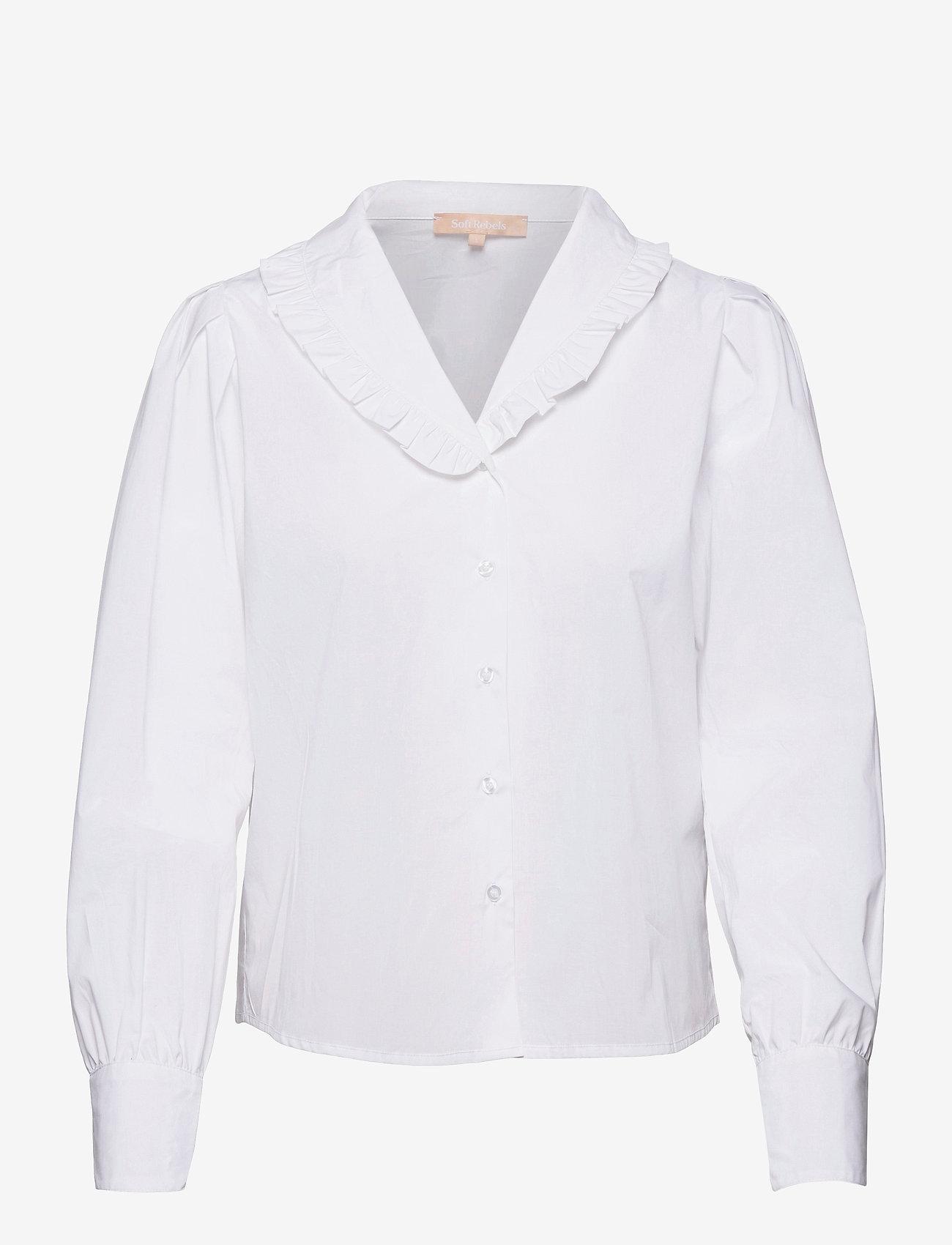 Soft Rebels - SRFika LS Shirt - long sleeved blouses - snow white / off white - 0