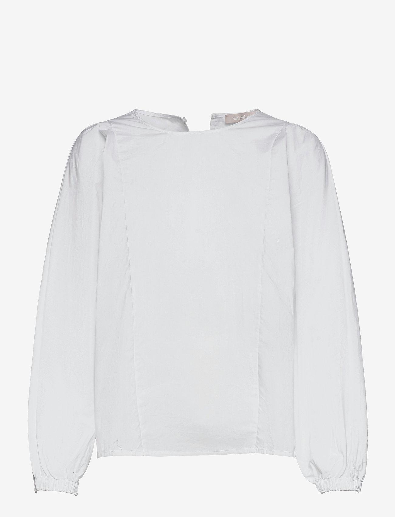 Soft Rebels - SRFika LS Top - long sleeved blouses - snow white / off white - 0