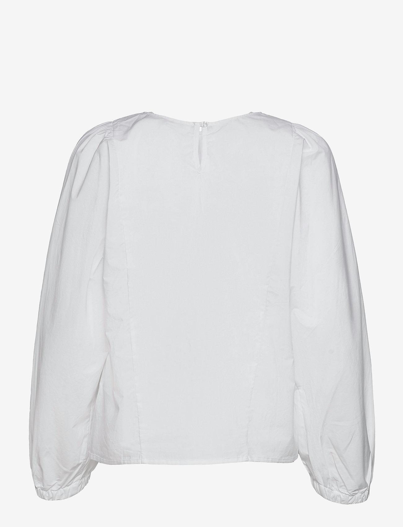 Soft Rebels - SRFika LS Top - long sleeved blouses - snow white / off white - 1