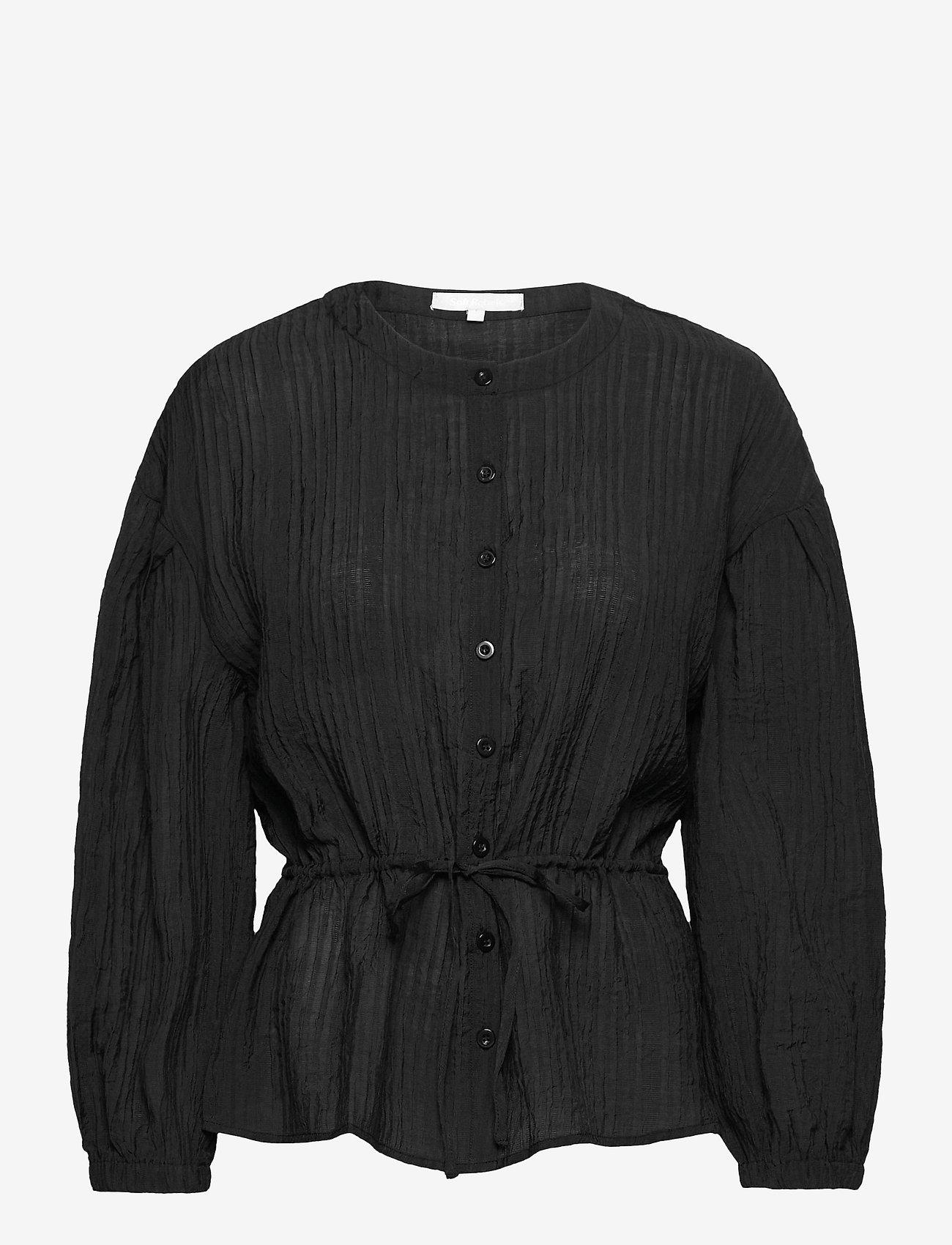 Soft Rebels - SRPolly LS Shirt - long sleeved blouses - black - 0