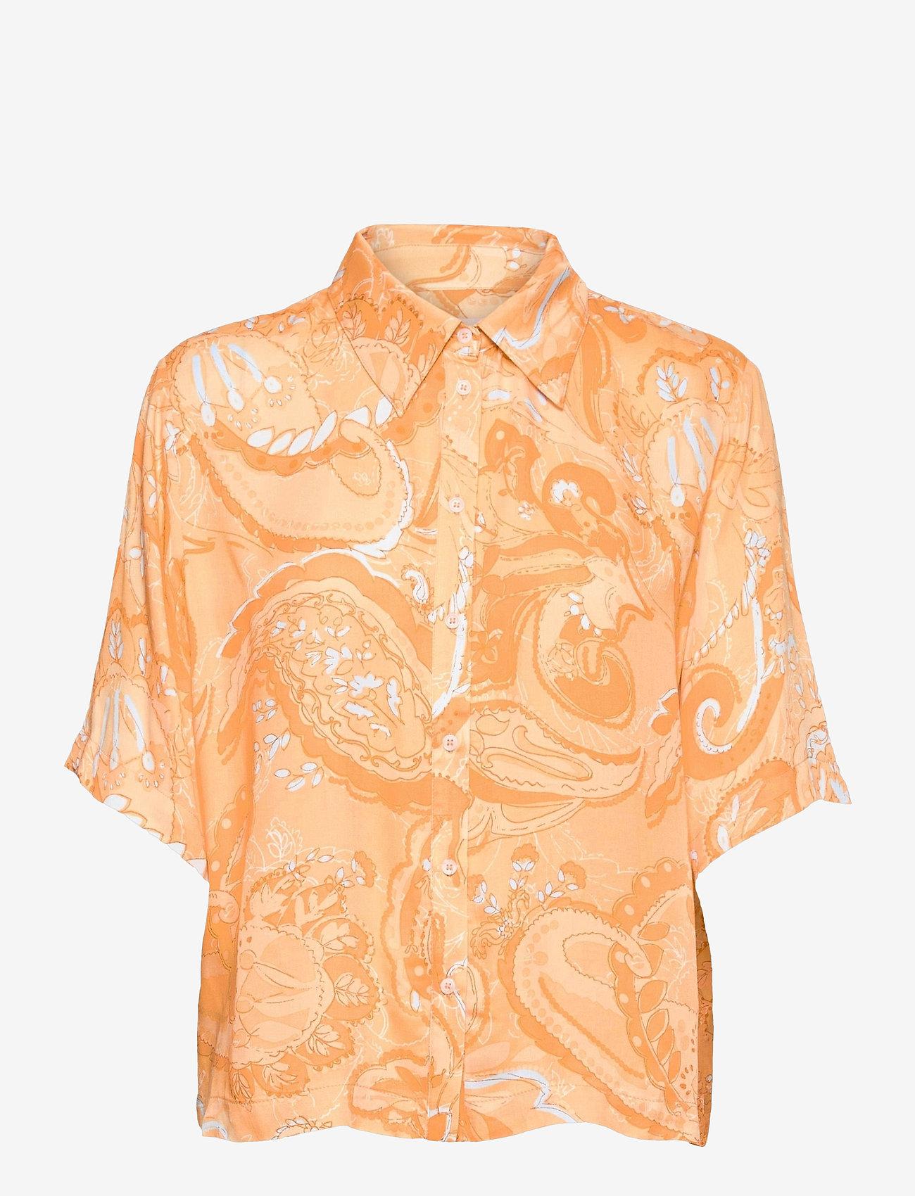 Soft Rebels - SRPennie 2/4 Shirt - short-sleeved shirts - paisley print - 0