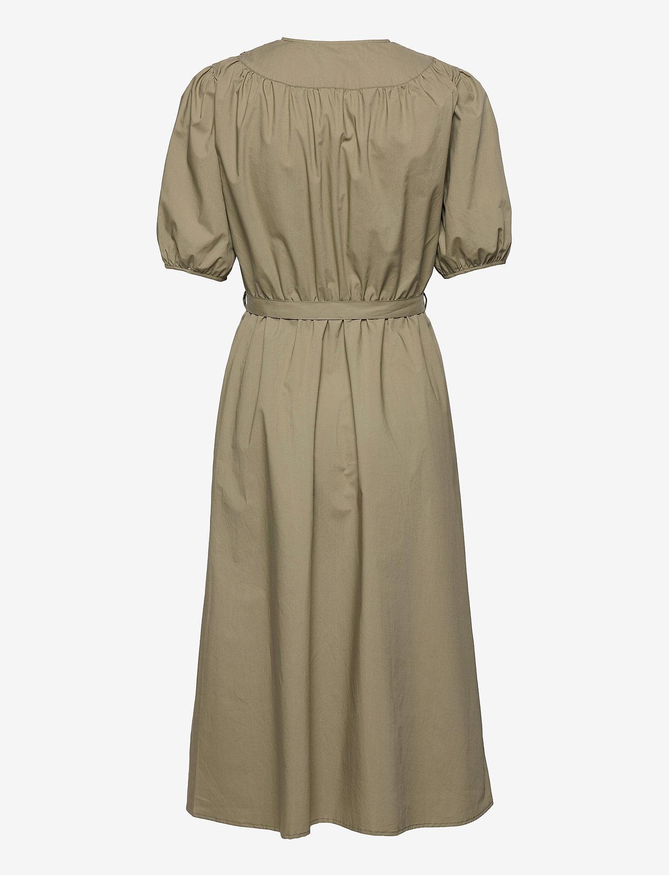 Soft Rebels - SRFika Wrap Dress - summer dresses - covert green - 1