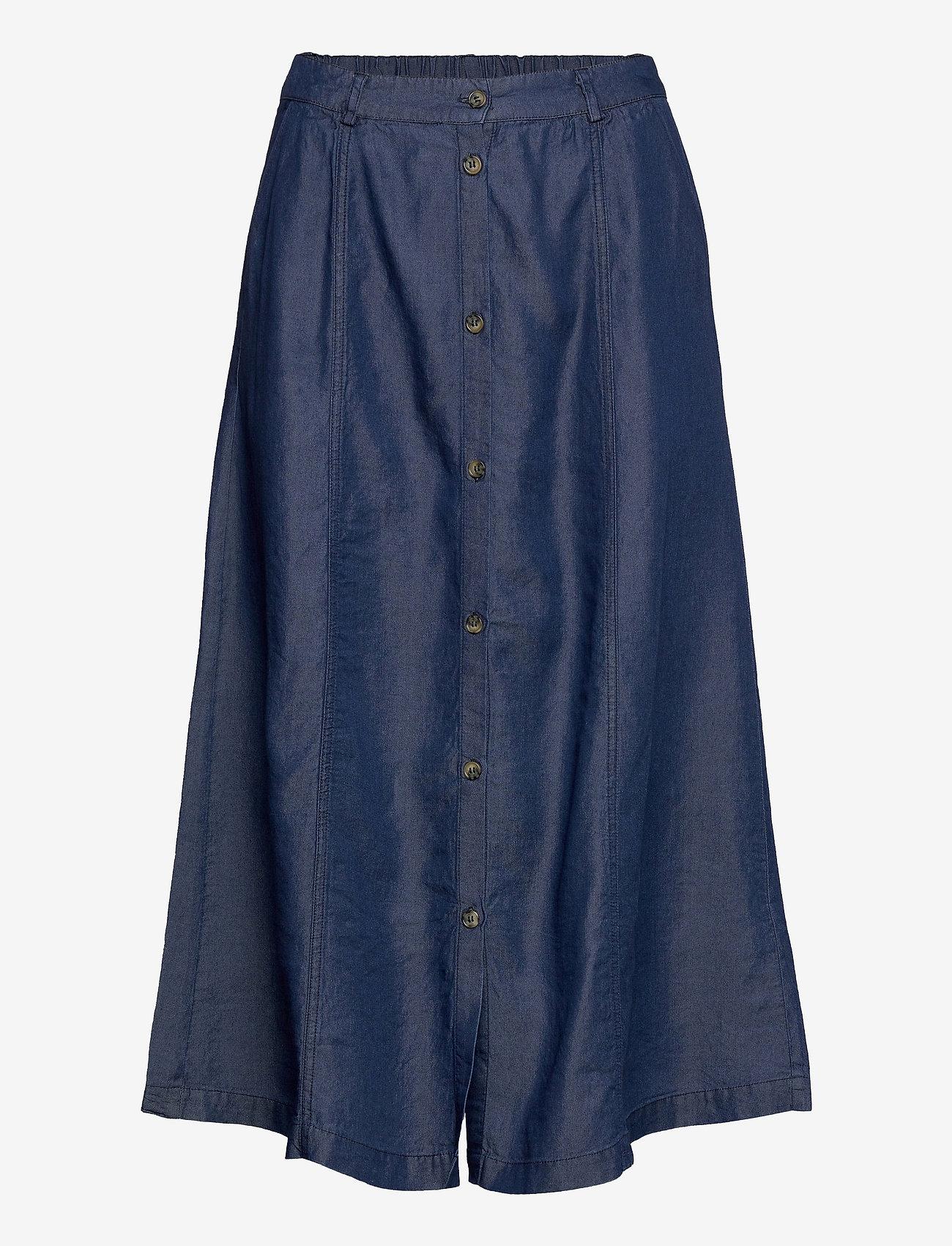 Soft Rebels - SRValeria Midi Skirt - midi skirts - rinse wash - 0