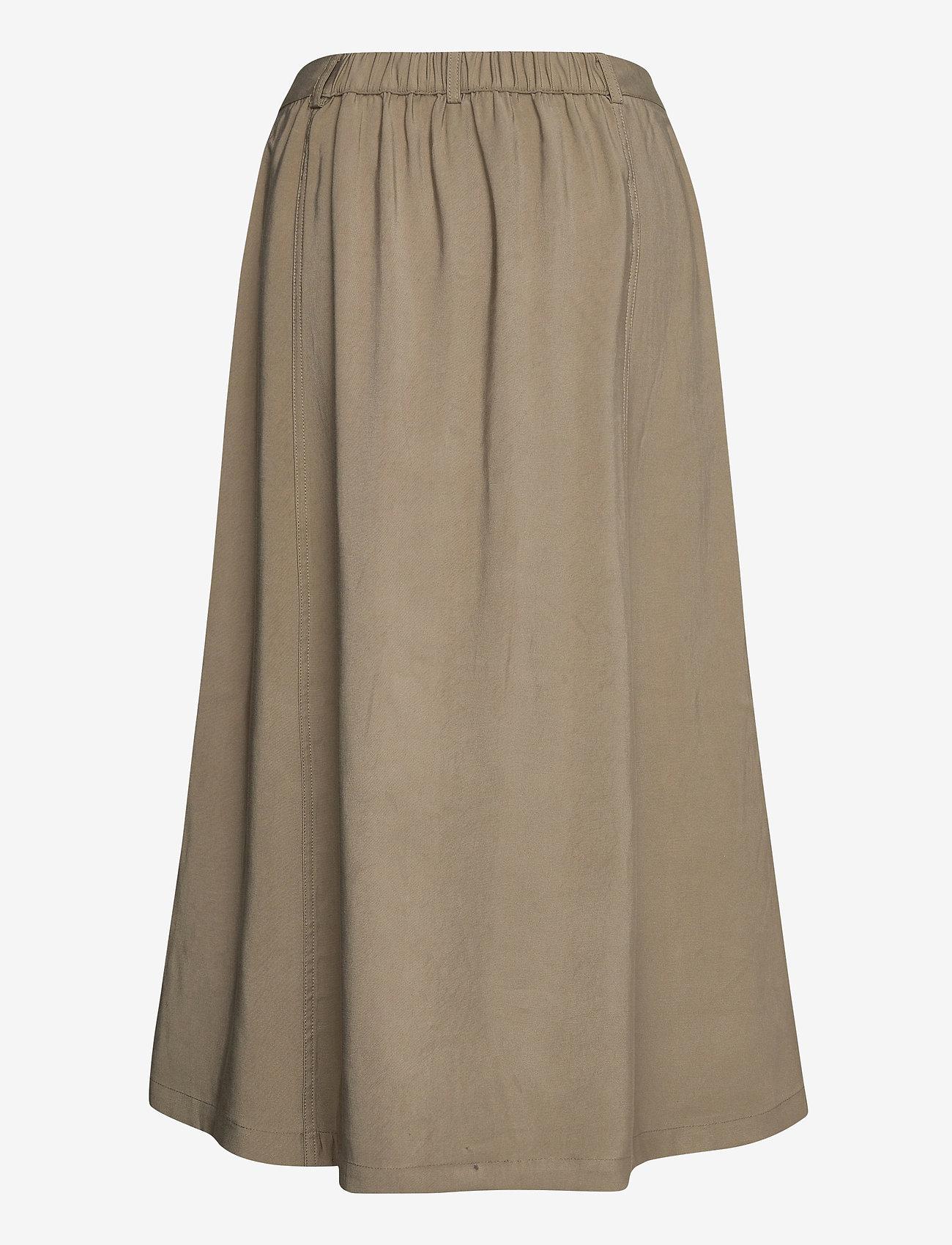 Soft Rebels - SRFrancine Midi Skirt - midi skirts - covert green - 1
