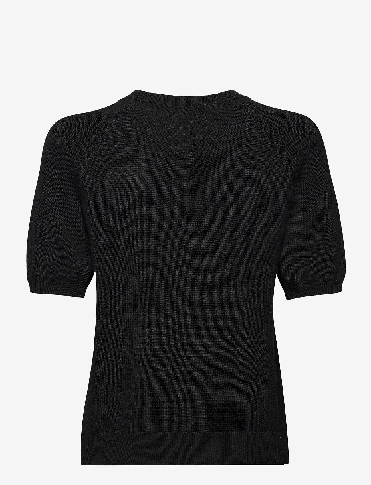 Soft Rebels - SRMarla SS O-neck - gebreide t-shirts - black - 1