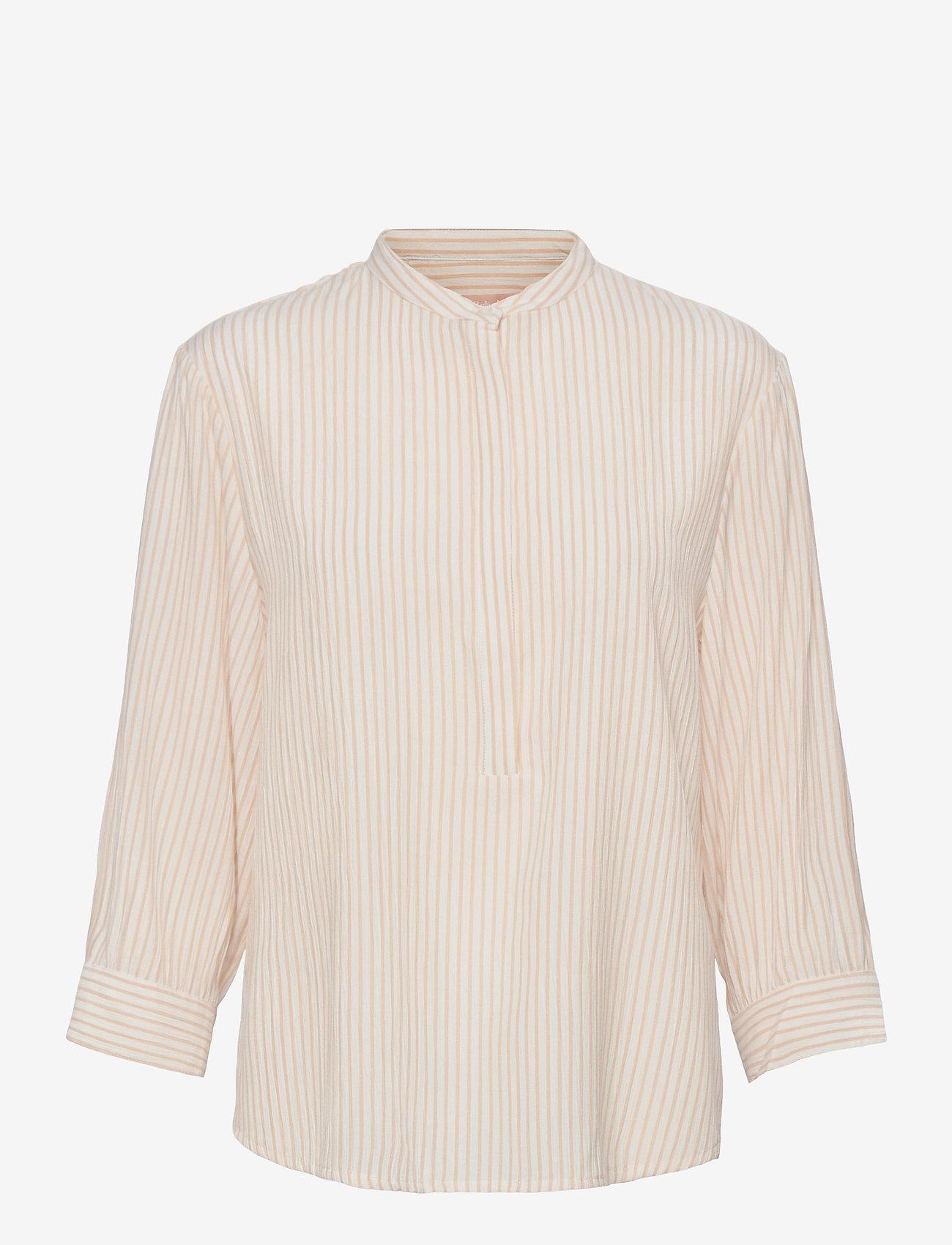 Soft Rebels - Allysia 3/4 Shirt - long-sleeved shirts - white pepper - 0