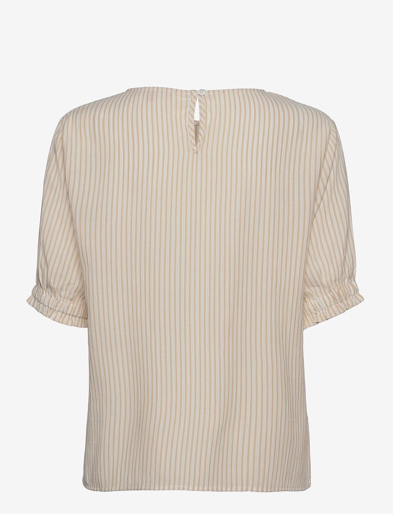 Soft Rebels - SRAllysia SS Top - short-sleeved blouses - white pepper - 1