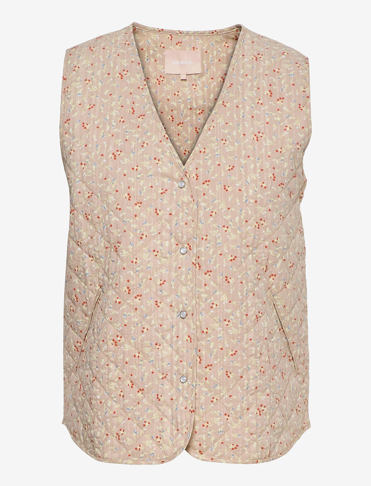 Soft Rebels - SRDana Vest - puffer vests - tiny flower pepper - 0