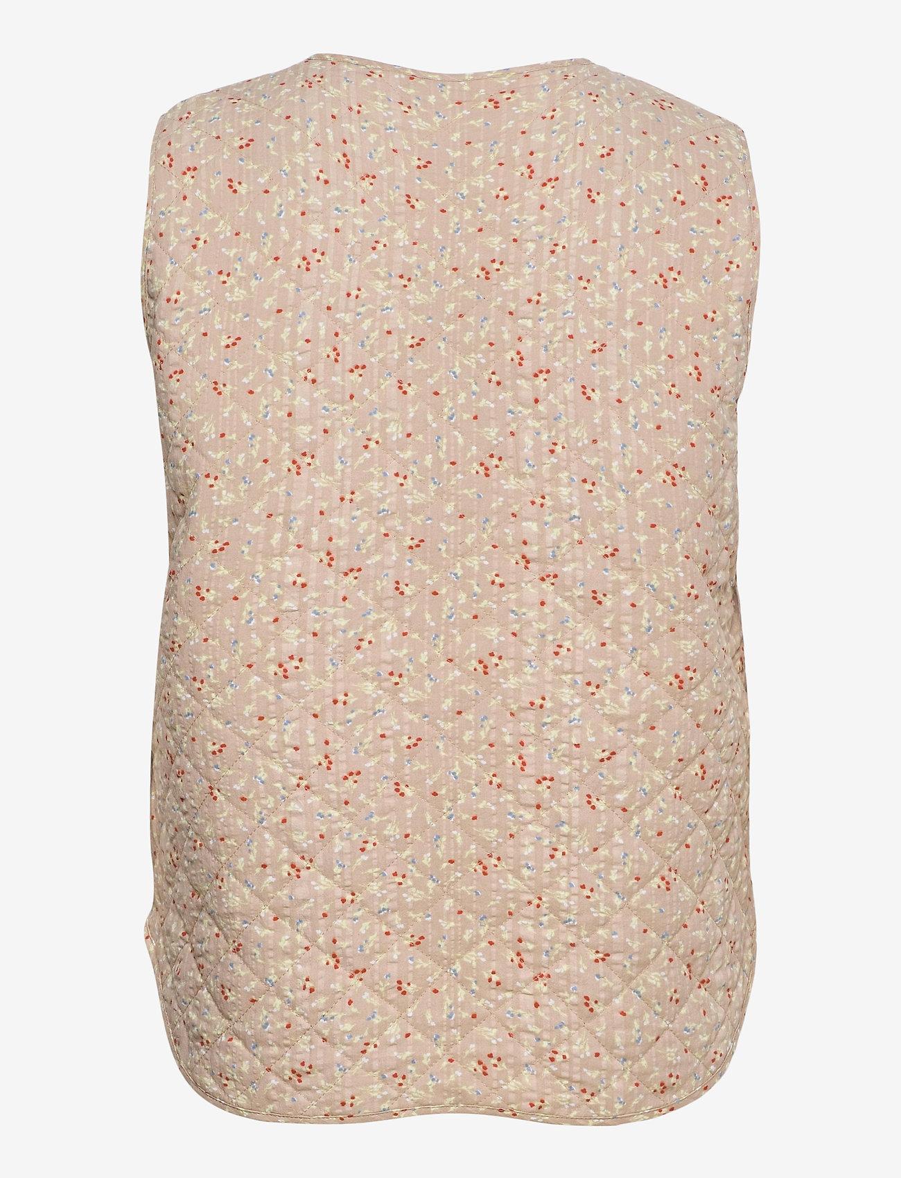 Soft Rebels - SRDana Vest - puffer vests - tiny flower pepper - 1