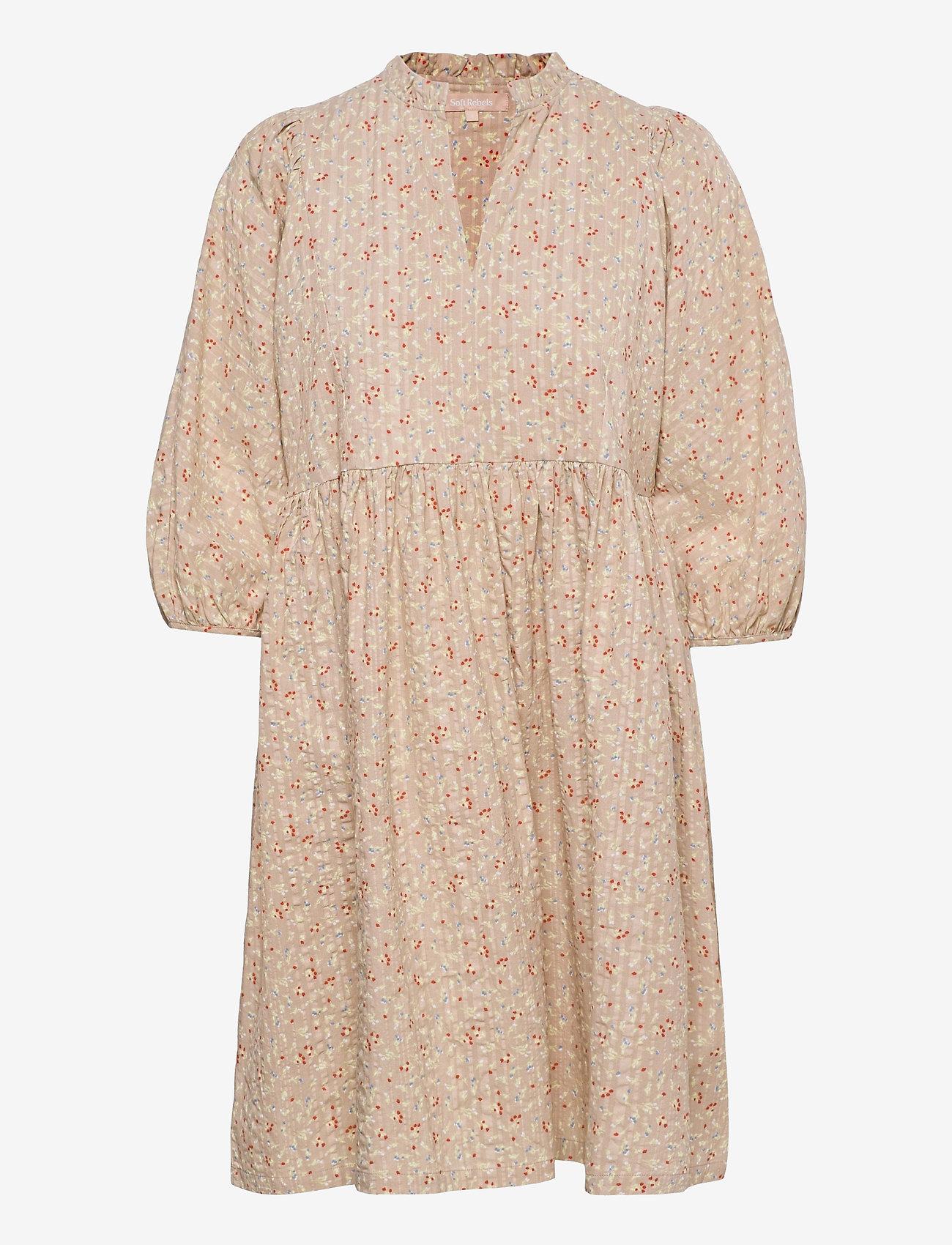 Soft Rebels - SRDana Dress Printed - sommerkjoler - tiny flower pepper - 0
