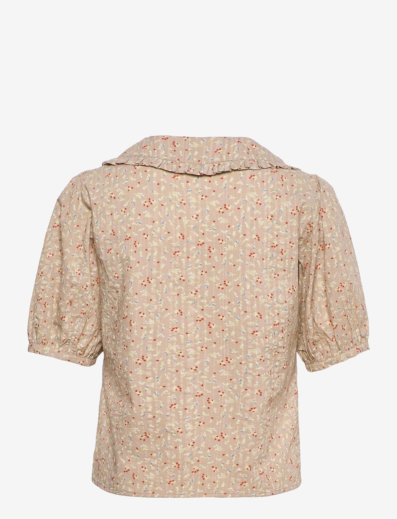 Soft Rebels - SRDana 2/4 Shirt Printed - short-sleeved blouses - tiny flower pepper - 1