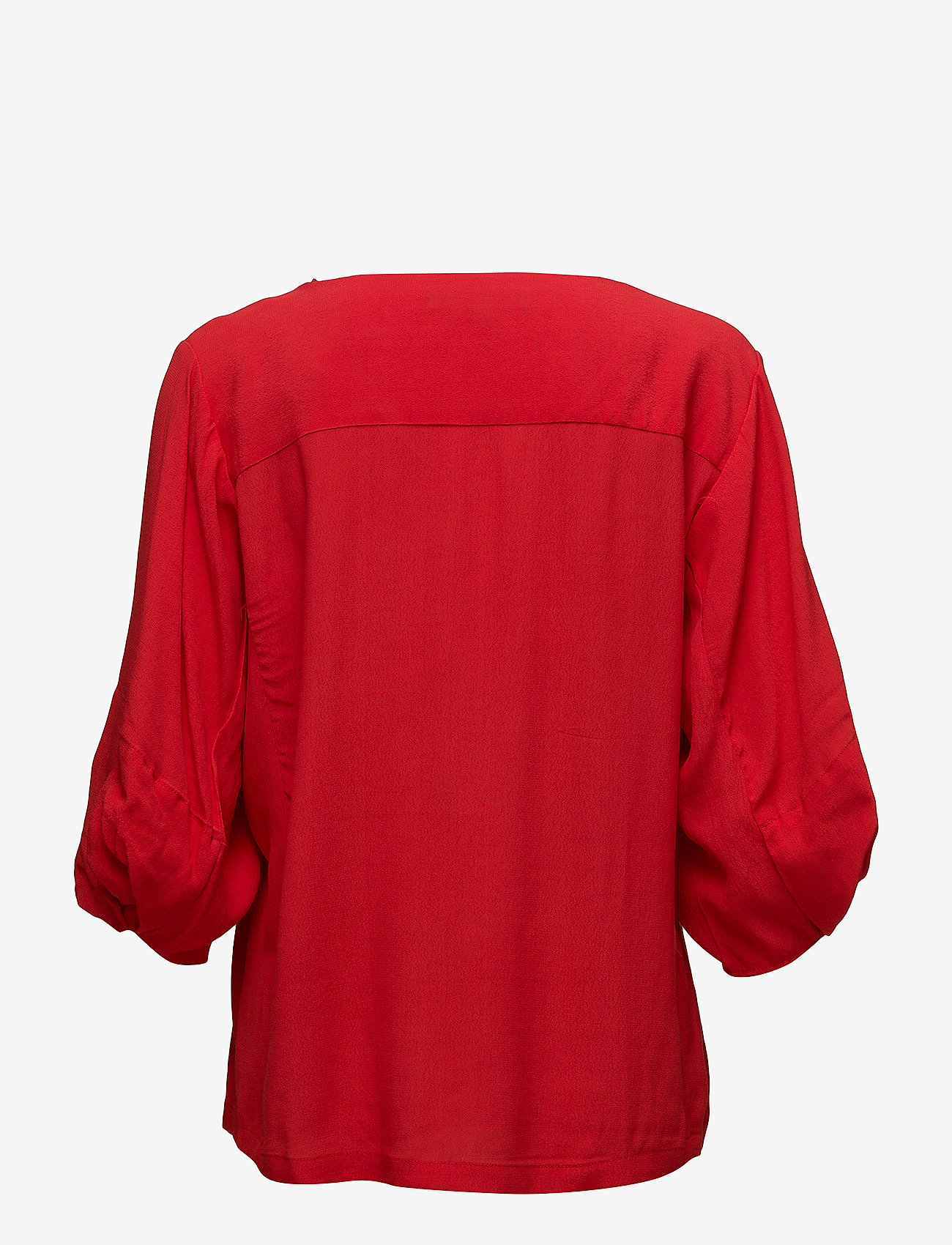 Soft Rebels - Keep Balloon Sleeve Blouse - long sleeved blouses - crimson - 1