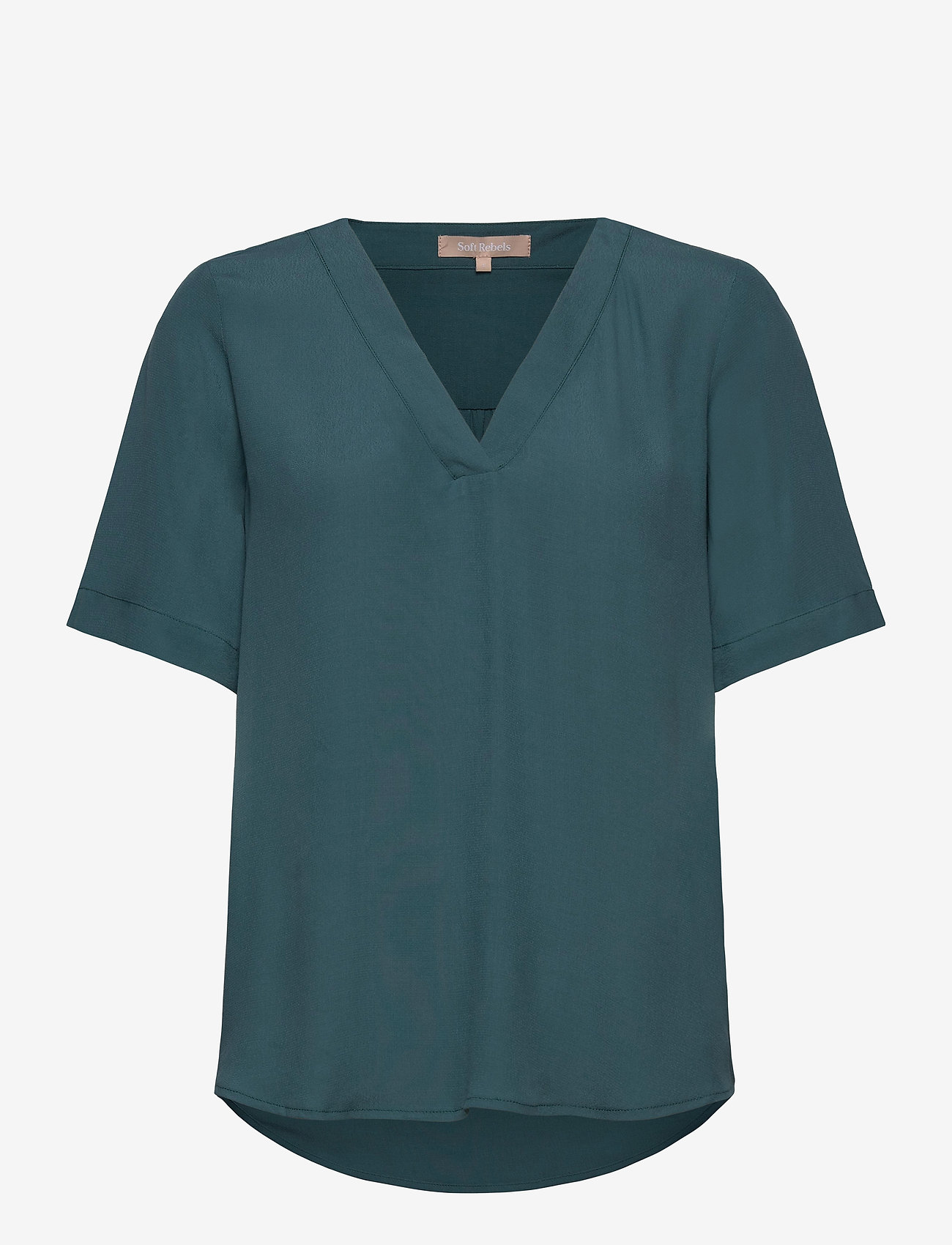 Soft Rebels - Quinn 2/4 Top - t-shirts - hydro - 0