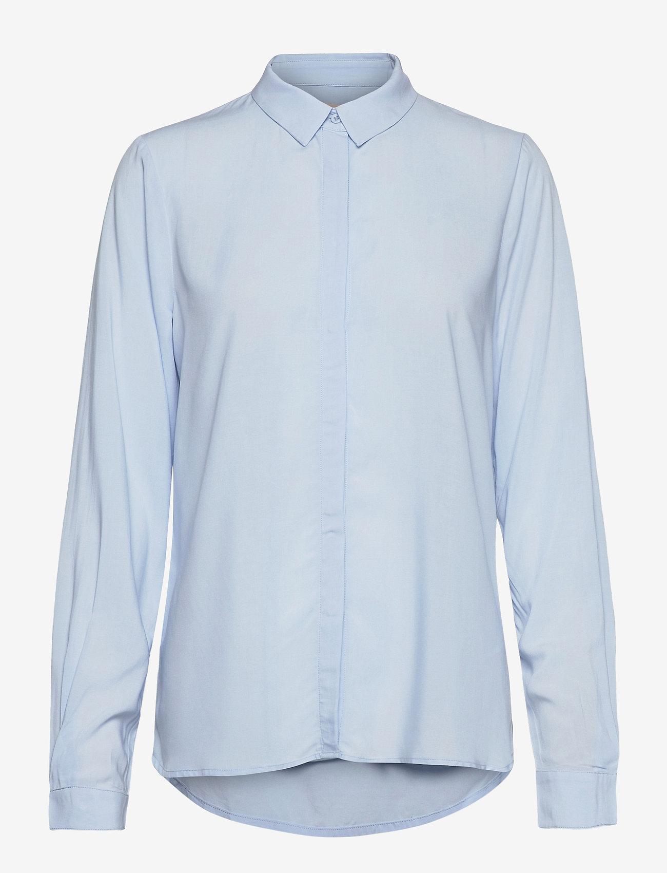 Soft Rebels - SRFreedom LS Shirt - long-sleeved shirts - cashmere blue - 1