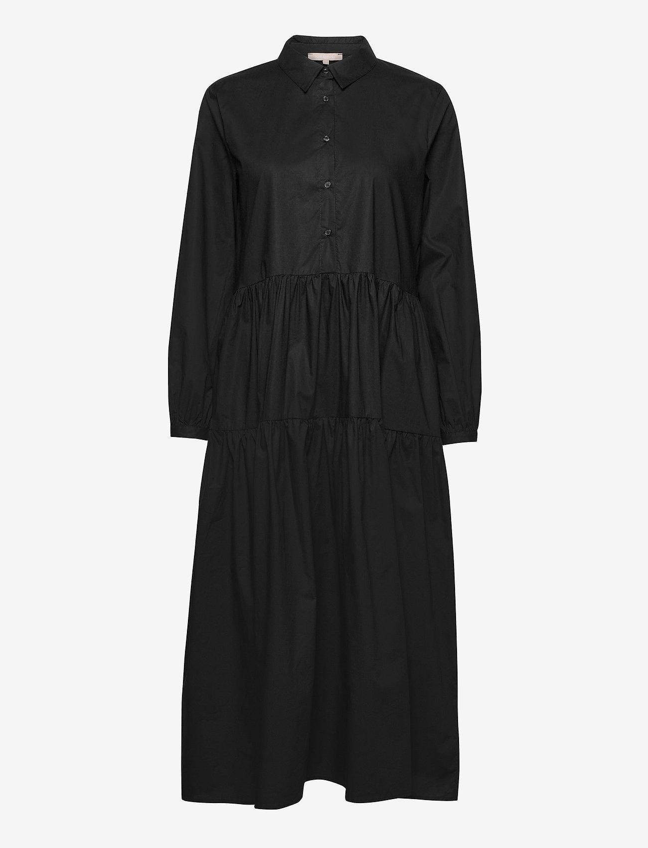 Soft Rebels - Jessie Midi Shirt Dress - midi dresses - black - 0