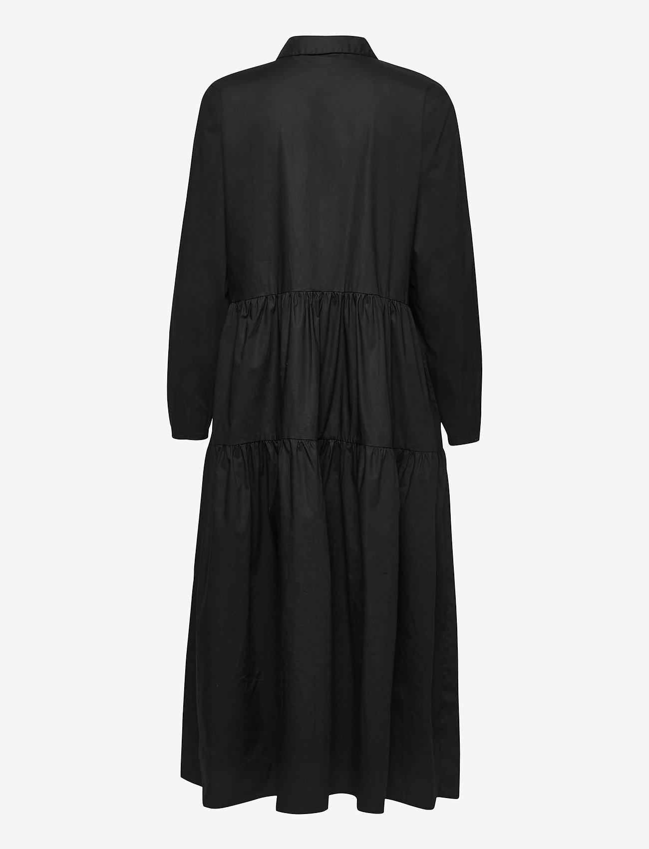 Soft Rebels - Jessie Midi Shirt Dress - midi dresses - black - 1
