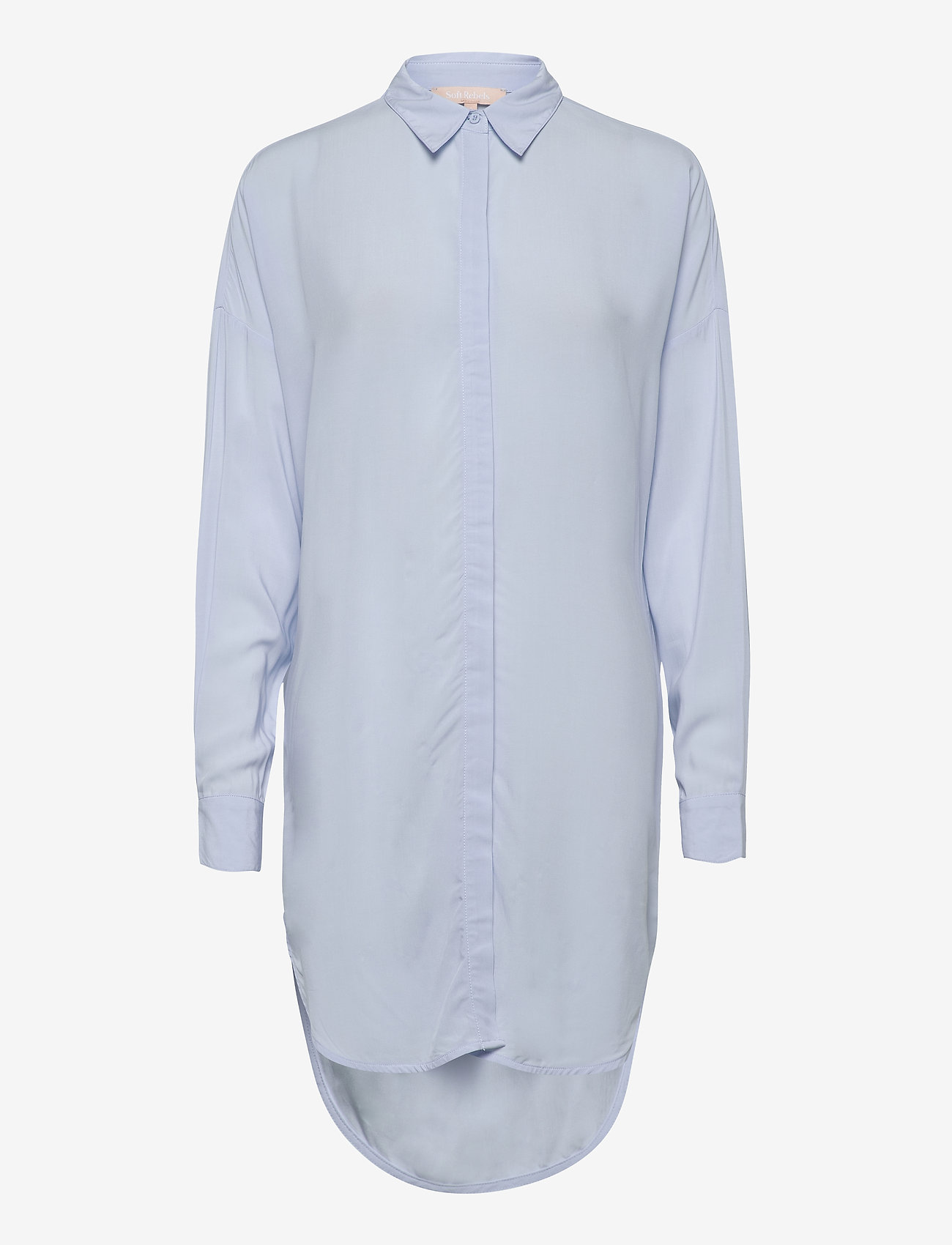 Soft Rebels - Freedom LS Long Shirt - tunieken - cashmere blue - 0