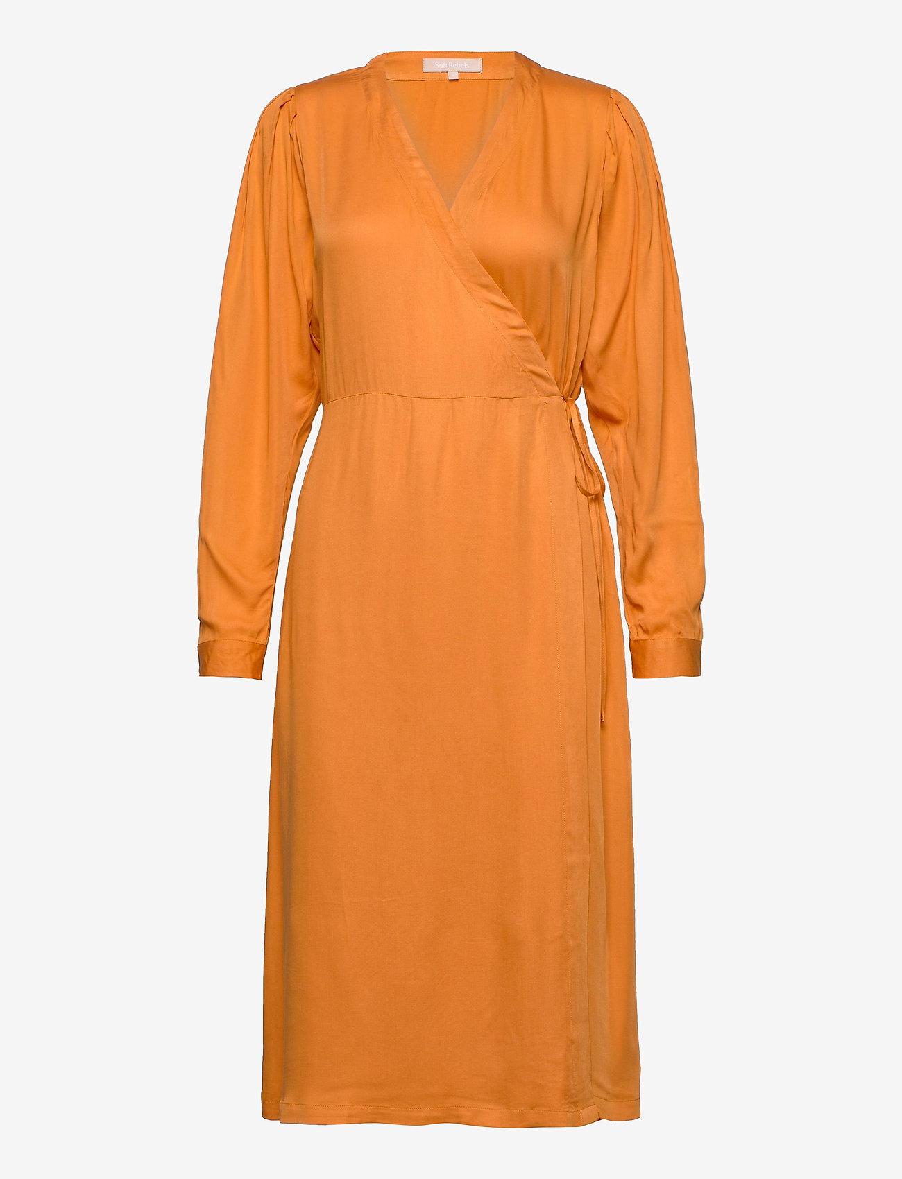 Soft Rebels - Rosanna Midi Dress - summer dresses - tomato cream - 0