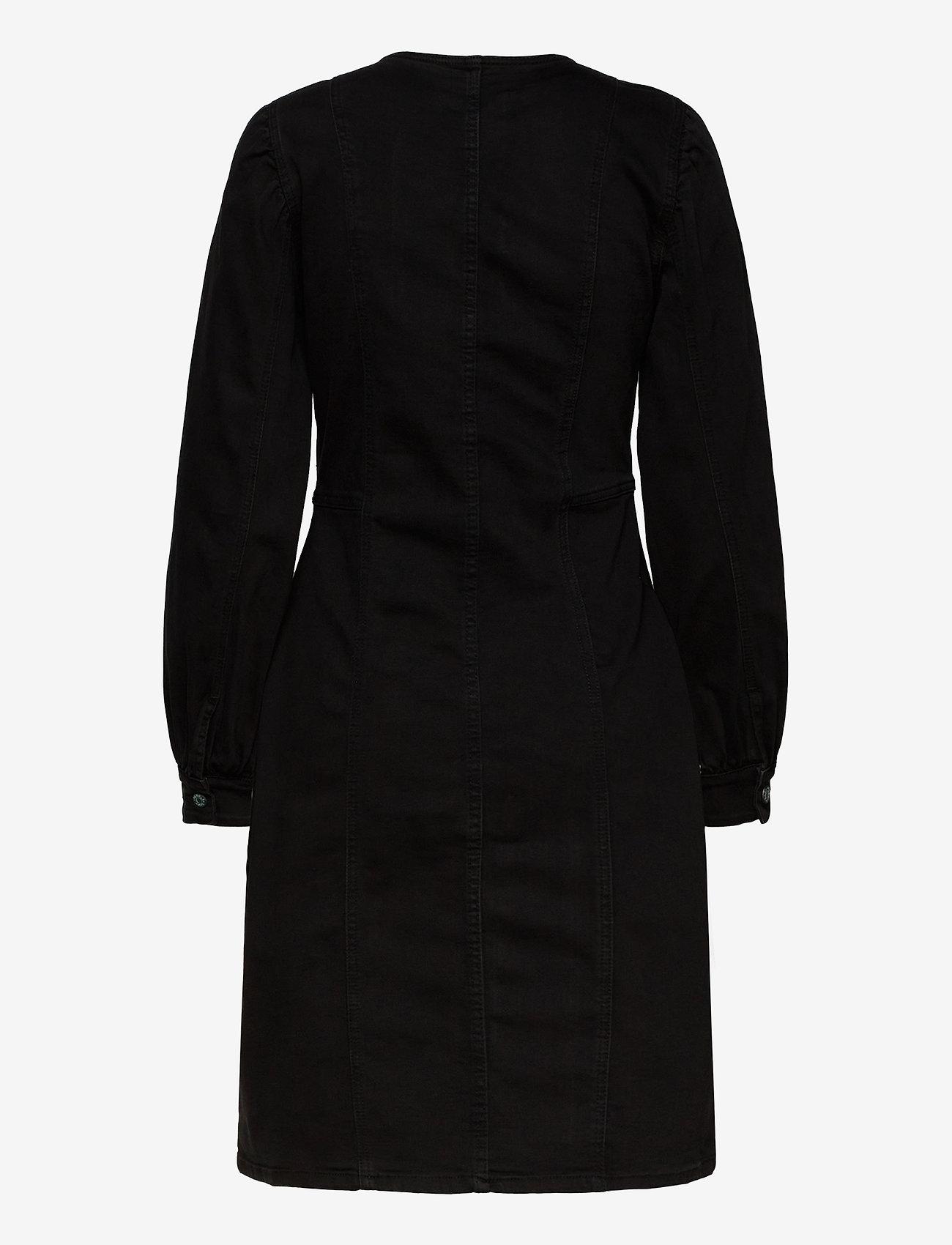 Soft Rebels - Janice LS Dress - midi dresses - charcoal black - 1