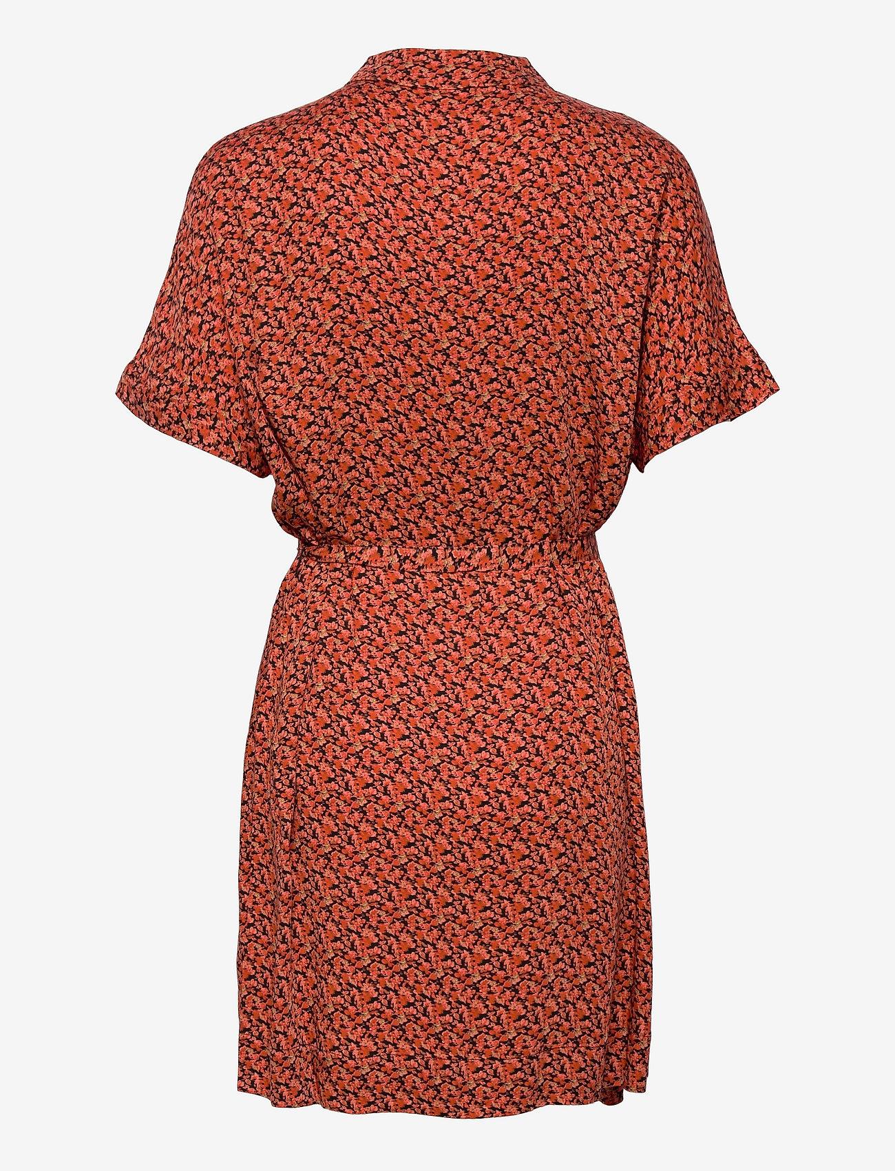 Soft Rebels - SRLeah Shirt Dress - summer dresses - blur flower rooibos - 1