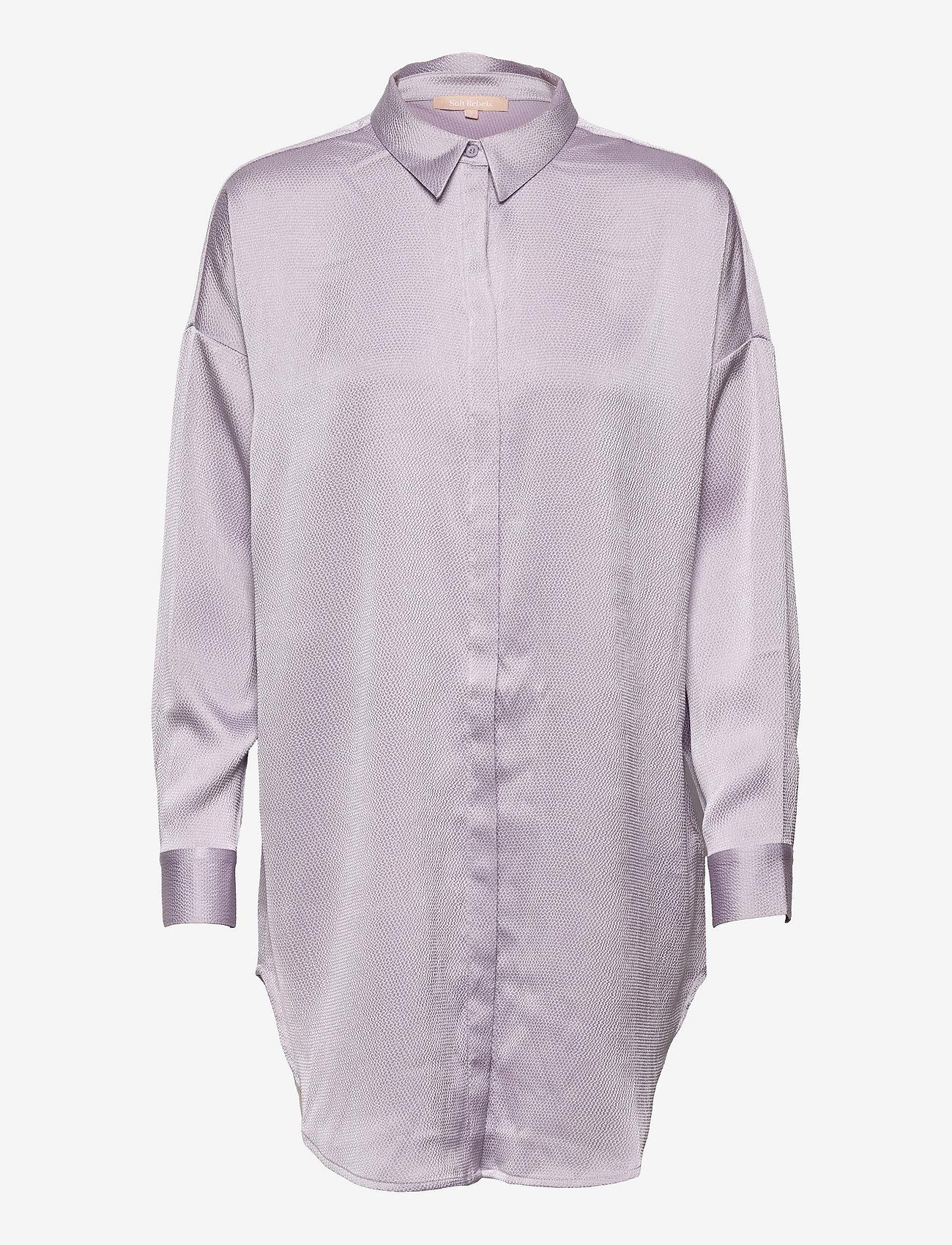 Soft Rebels - SRHarlow LS long Shirt - long-sleeved shirts - thistle - 0