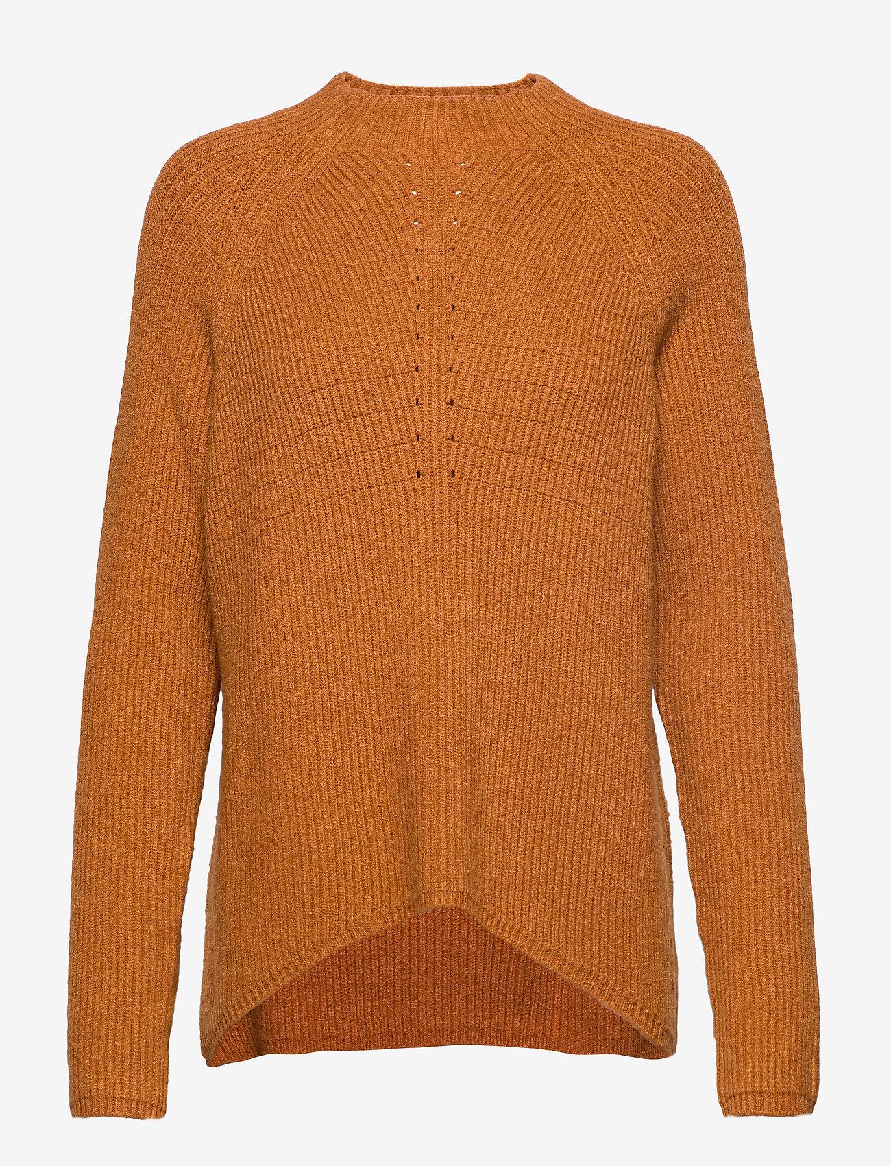 Soft Rebels - Mille T-neck Knit - trøjer - inca gold - 0