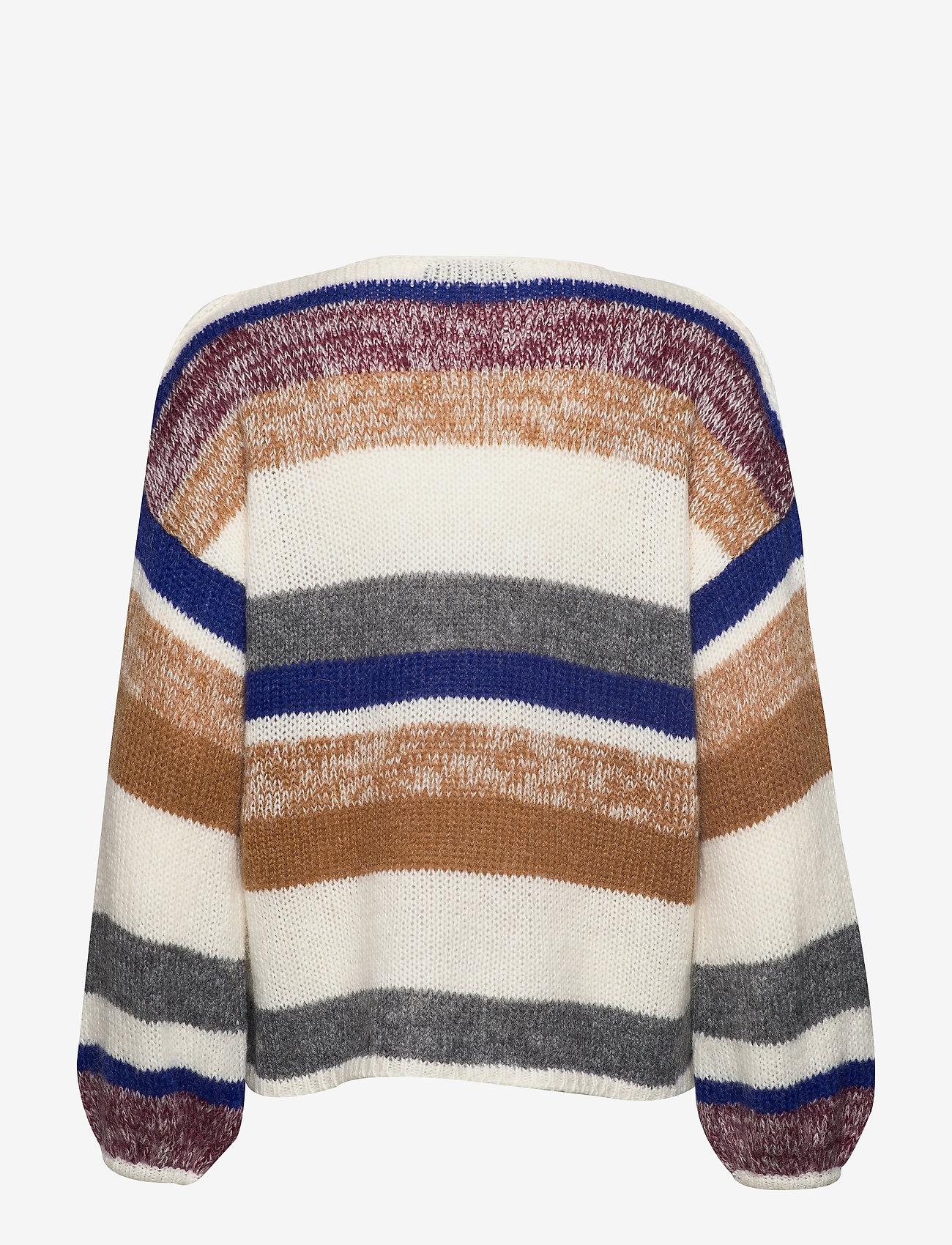 Soft Rebels - Softy O-neck Knit - trøjer - snow white / off white - 1