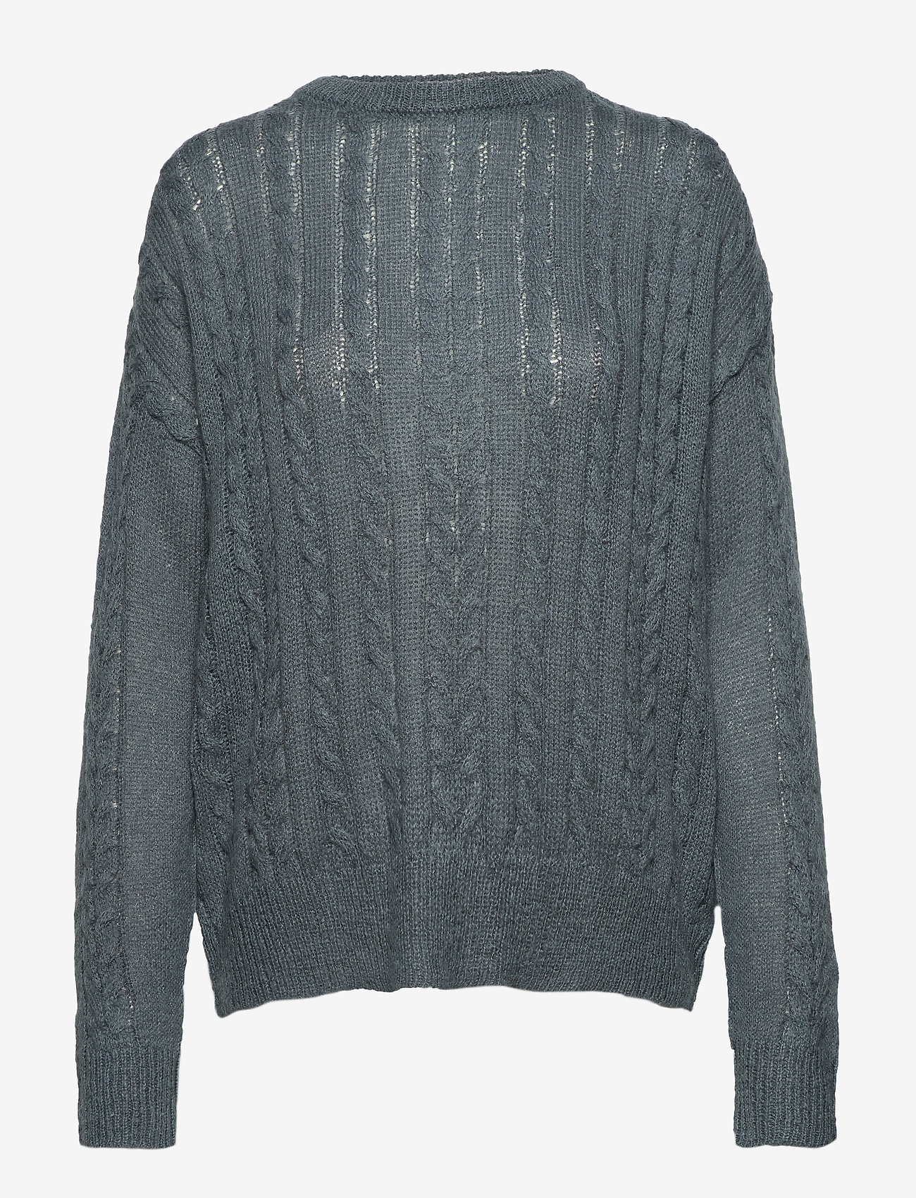 Soft Rebels - Calby O-neck Knit - jumpers - blue mirage - 0