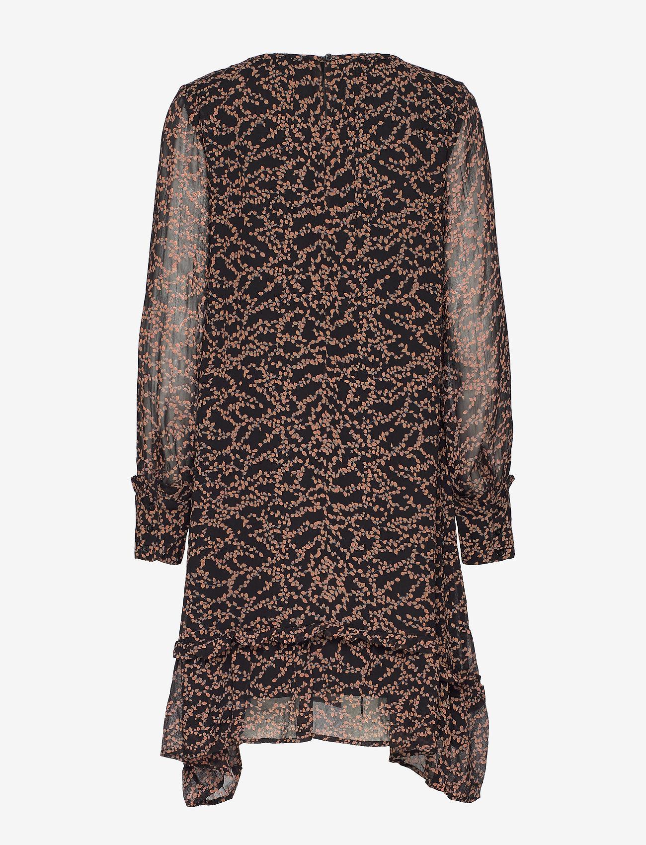 Soft Rebels Selina Dress - Sukienki FLOWVY PRINT BLACK - Kobiety Odzież.