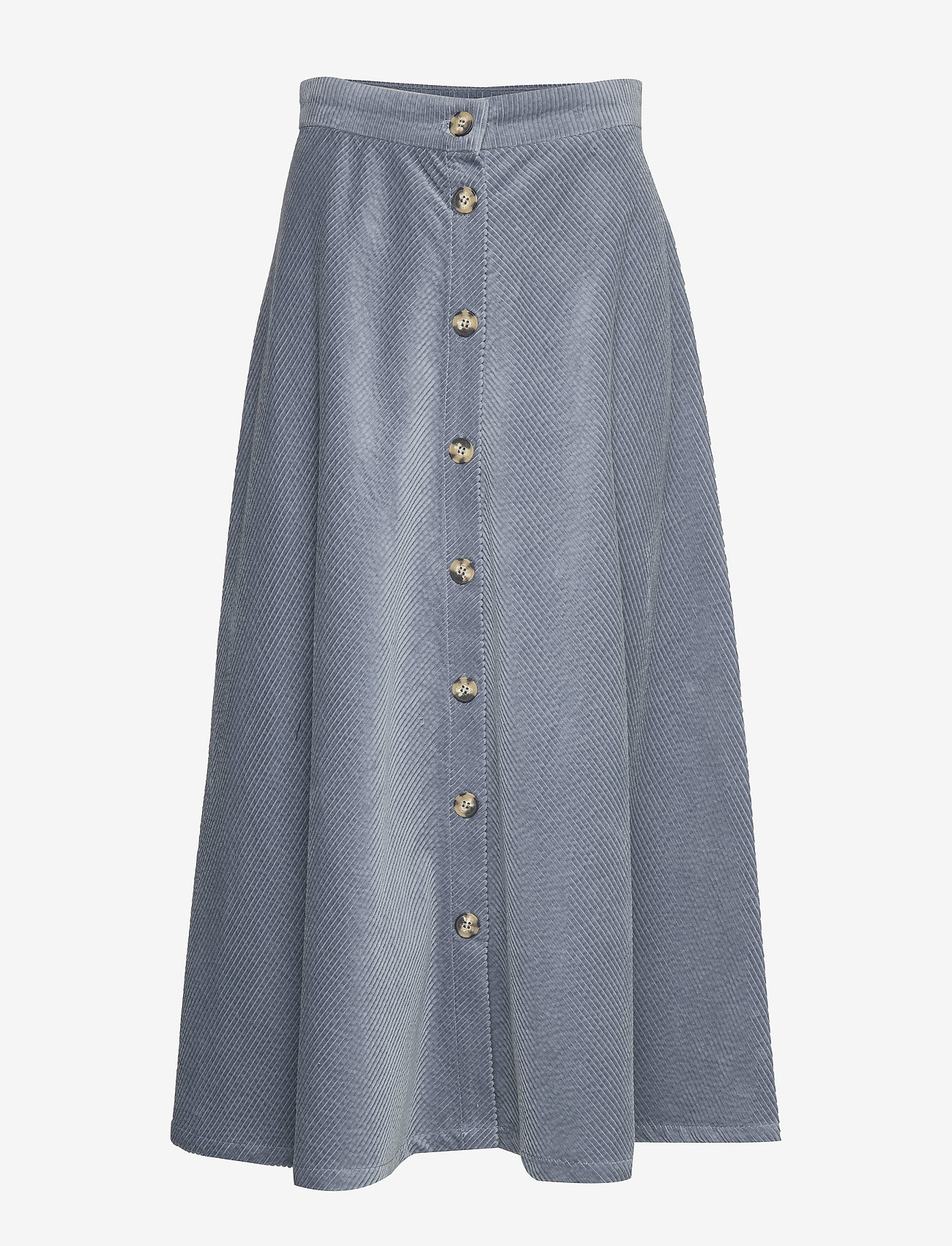 Soft Rebels - Cordy Skirt - midinederdele - blue mirage - 0