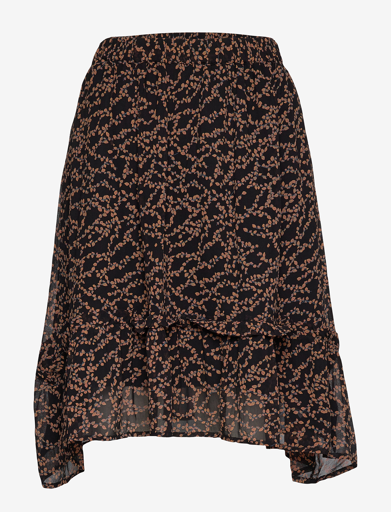 Soft Rebels - Selina Skirt - midinederdele - flowvy print black - 0