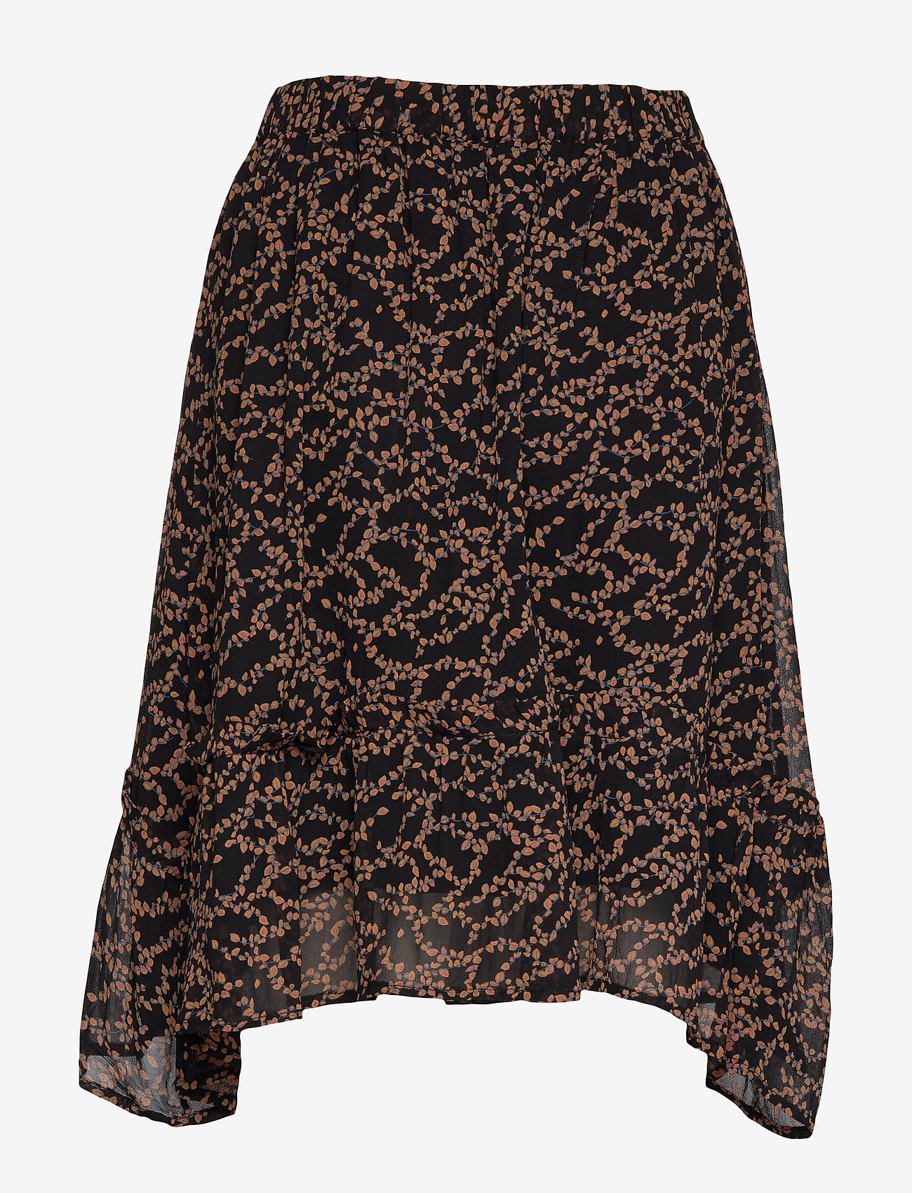 Soft Rebels - Selina Skirt - midinederdele - flowvy print black - 1