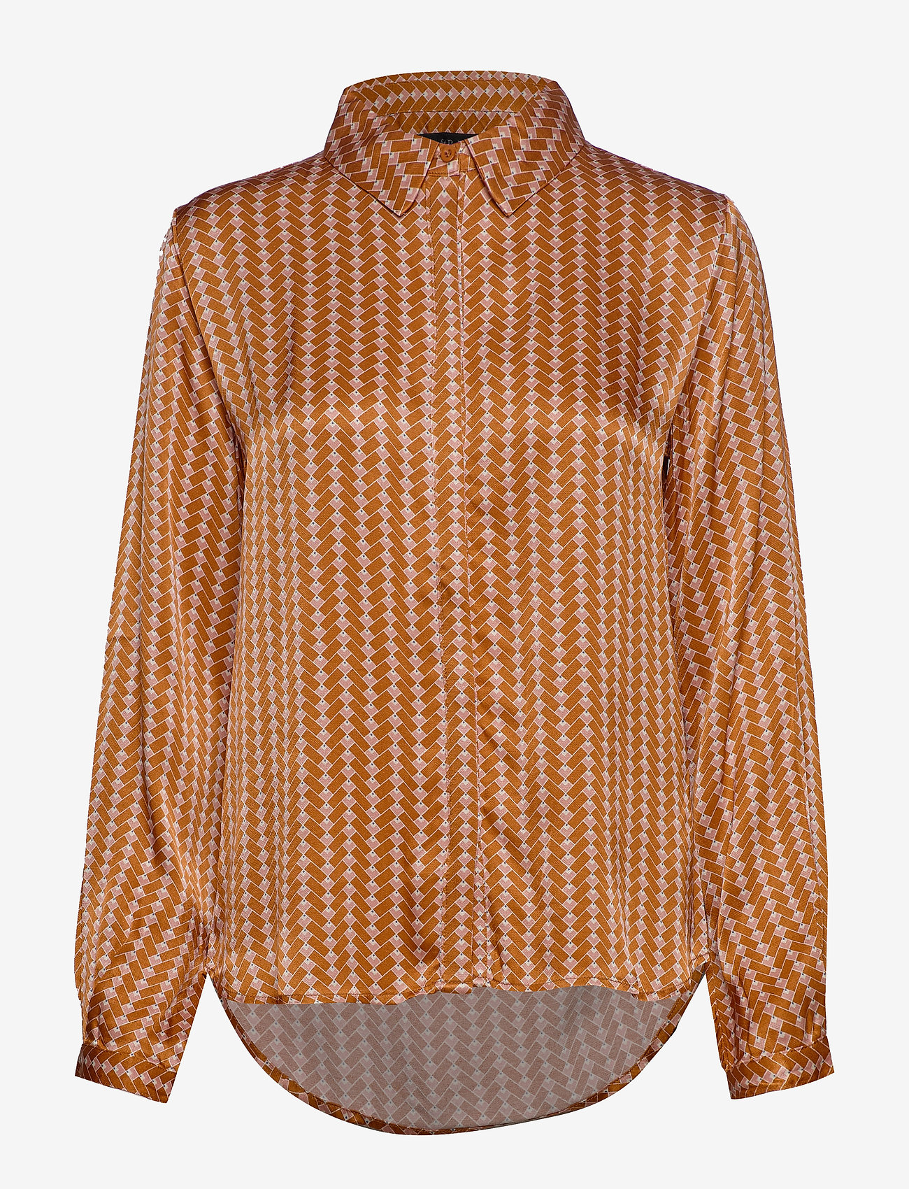 Soft Rebels - Sikka Shirt - long sleeved blouses - tile print - 0
