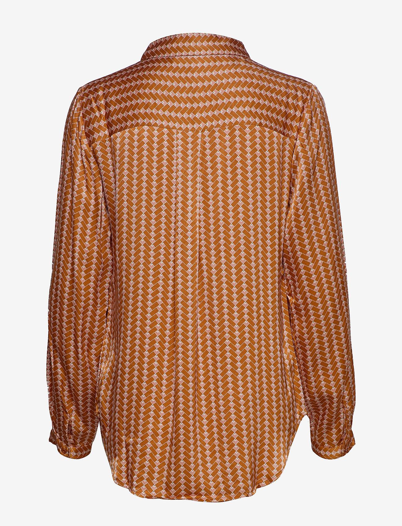 Soft Rebels - Sikka Shirt - long sleeved blouses - tile print - 1